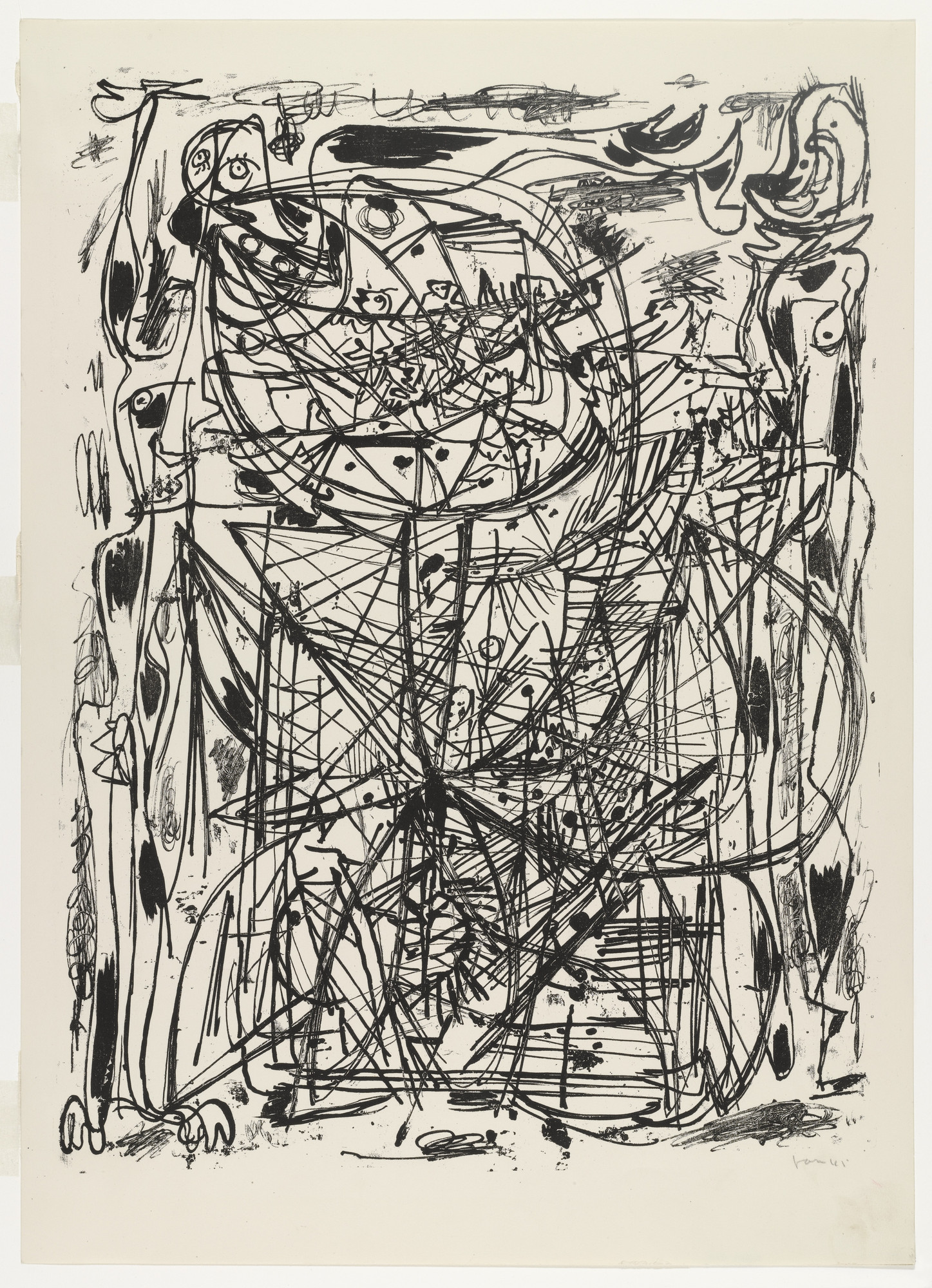 Asger Jorn. Untitled from 8 Lithografier (8 Lithographs). 1945