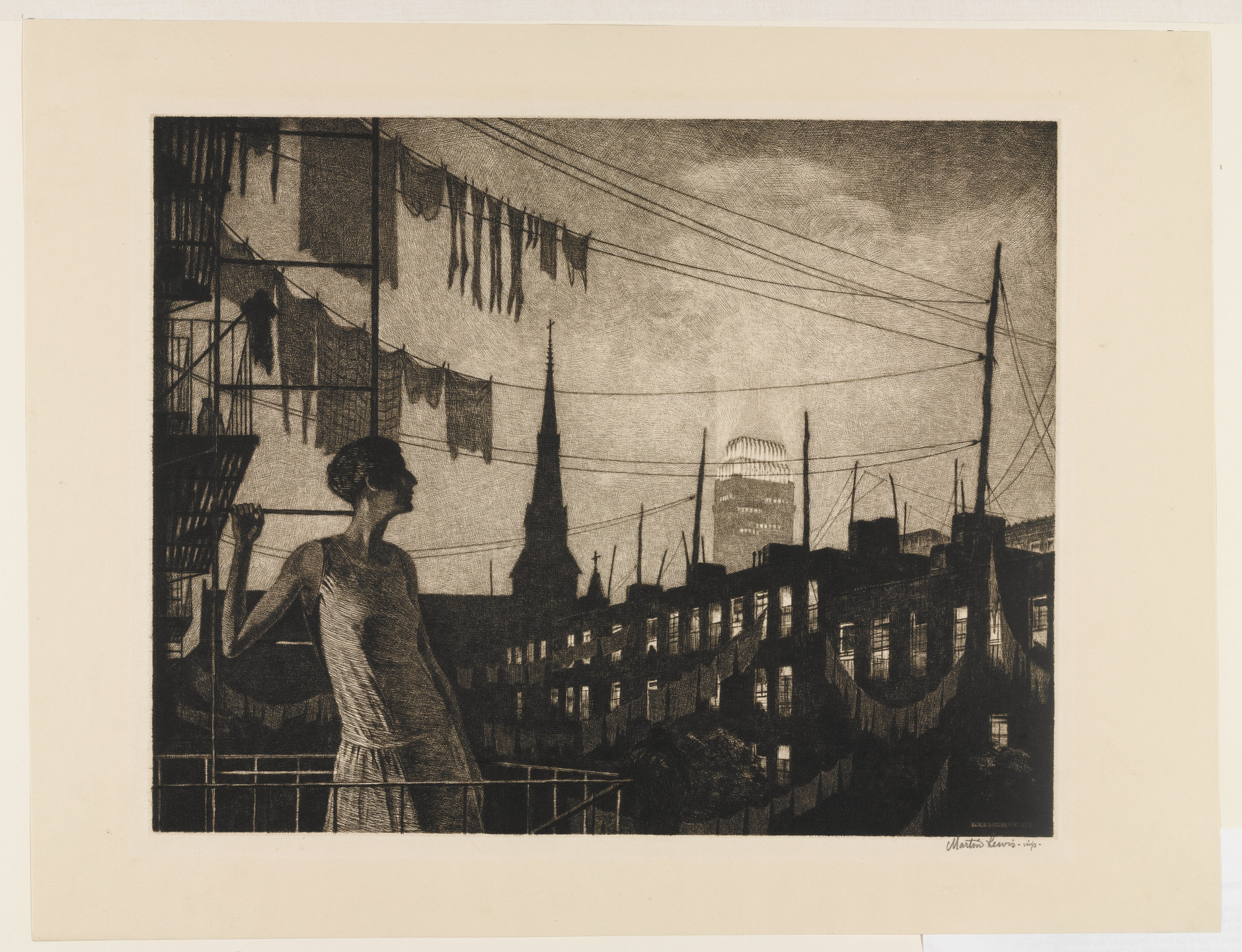 Martin Lewis. The Glow of the City. 1929