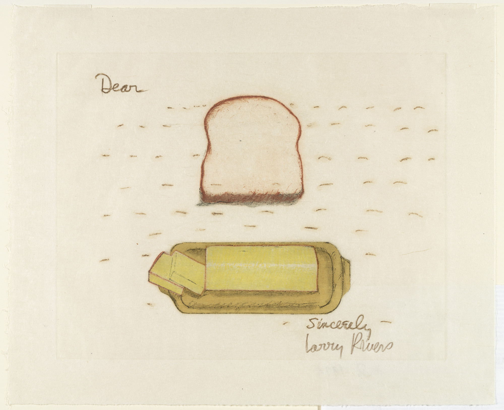 Larry Rivers. Bread and Butter. 1974
