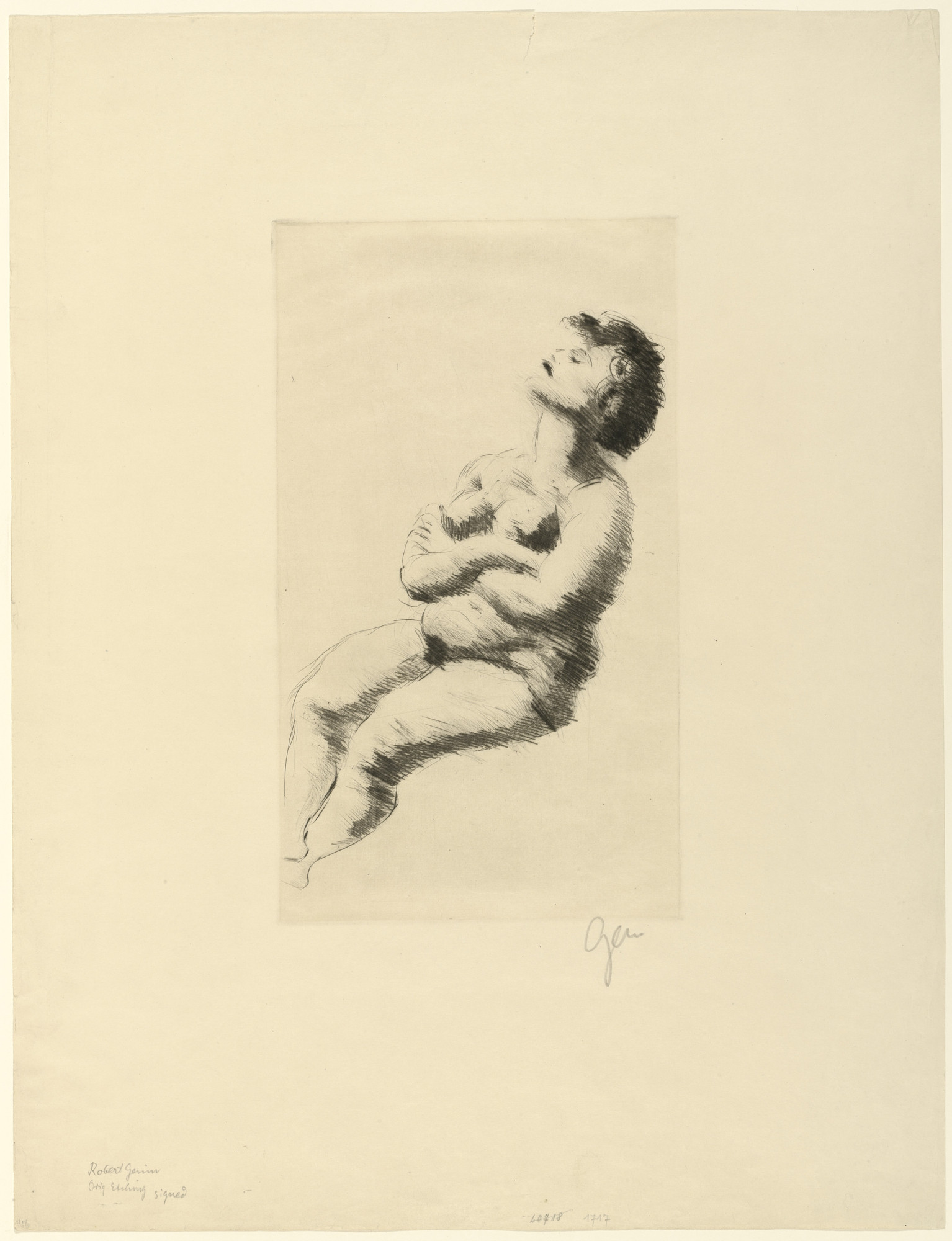 Robert Genin. Seated Nude. unknown
