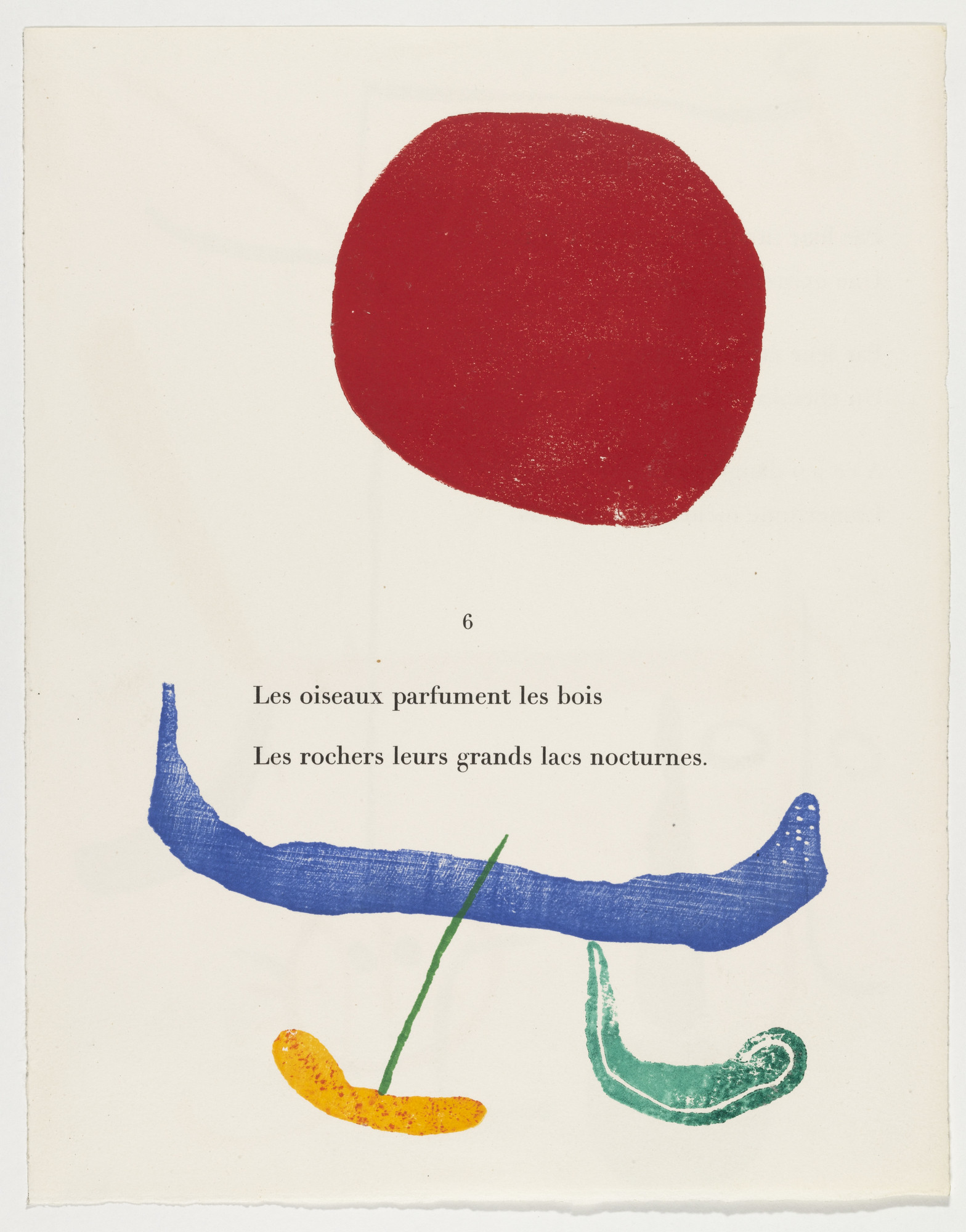 Joan Miró. Proof from À toute épreuve (Proof Against All) by Paul Éluard. 1947–58 | MoMA