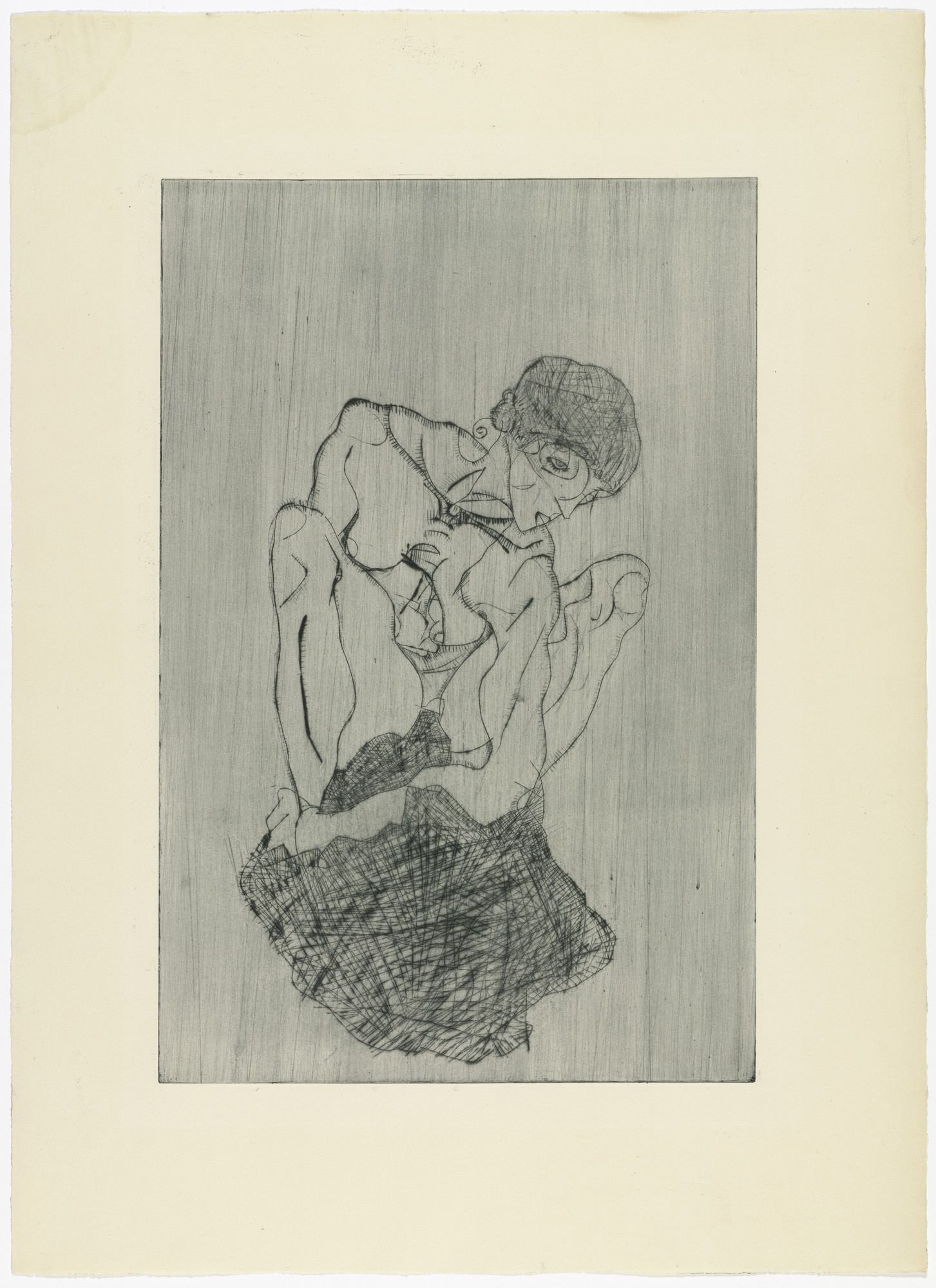 Egon Schiele. Sorrow (Kümmernis) from The Graphic Work of Egon Schiele (Das Graphische Werk von Egon Schiele). (1914, published 1922)