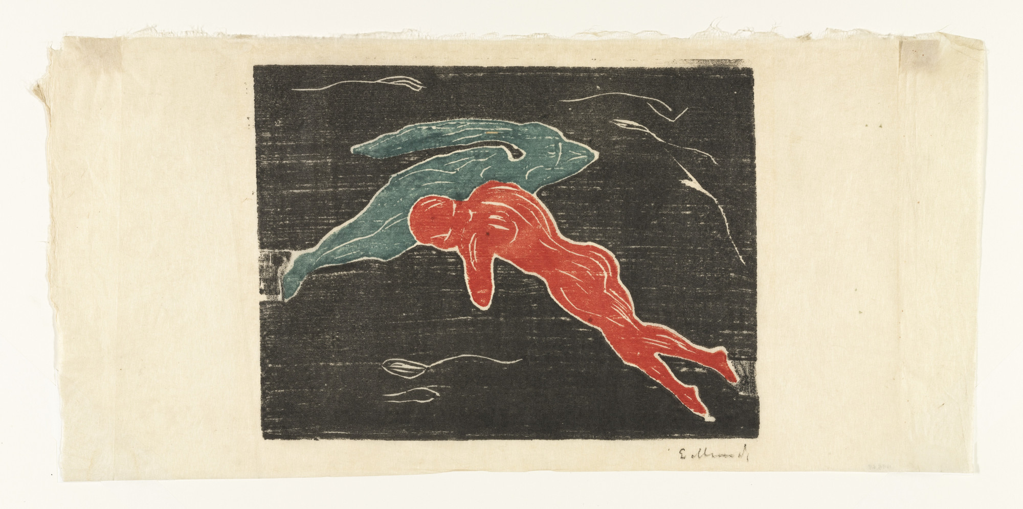 Edvard Munch. Encounter in Space (Møte i verdensrommet). 1898–99