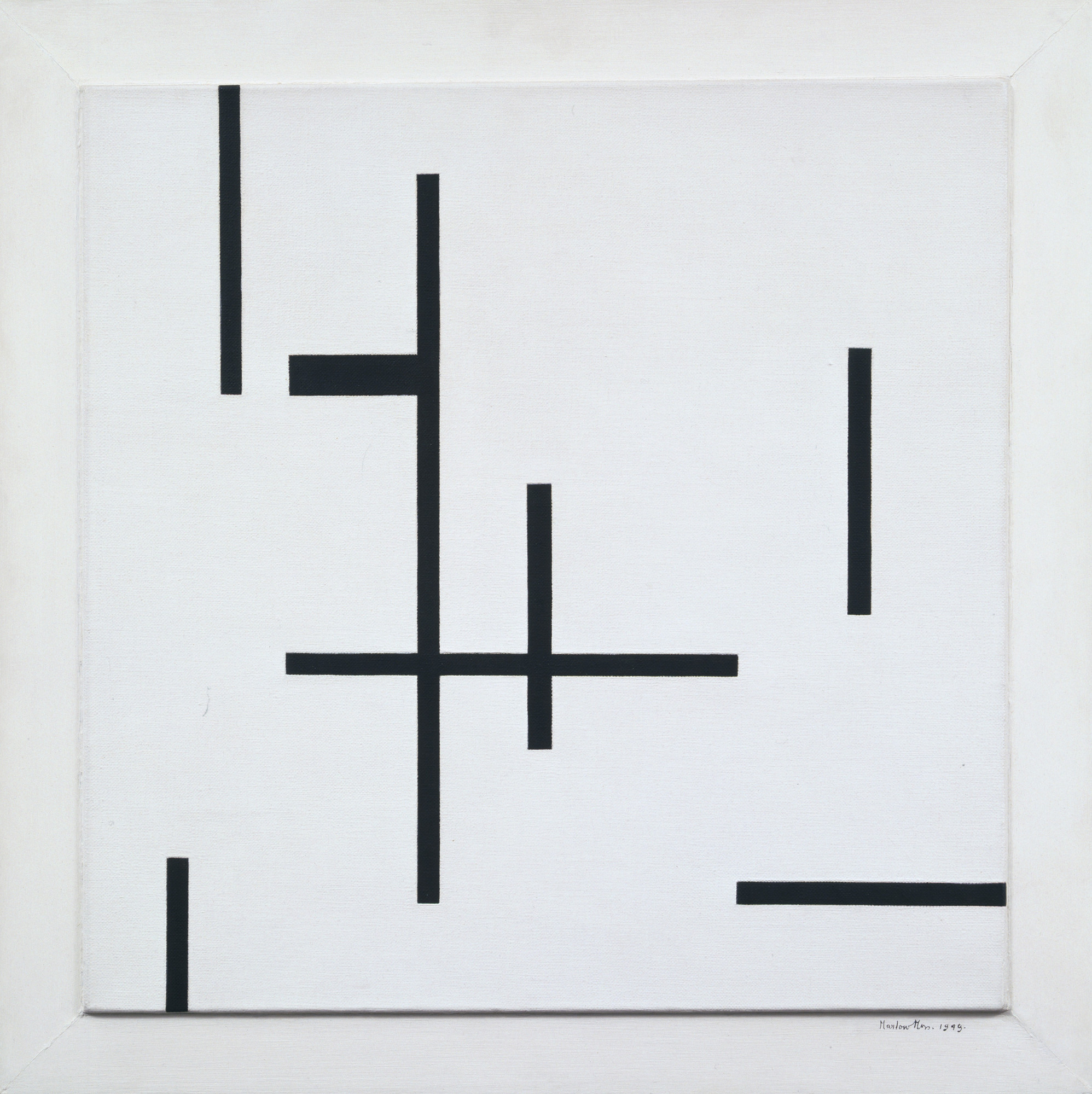 Marlow Moss. Composition in Black and White Number 4. 1949