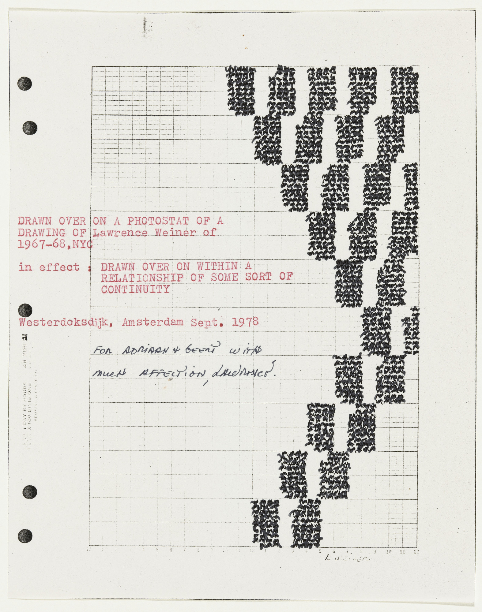 Lawrence Weiner. Untitled (Drawn Over On…). 1978