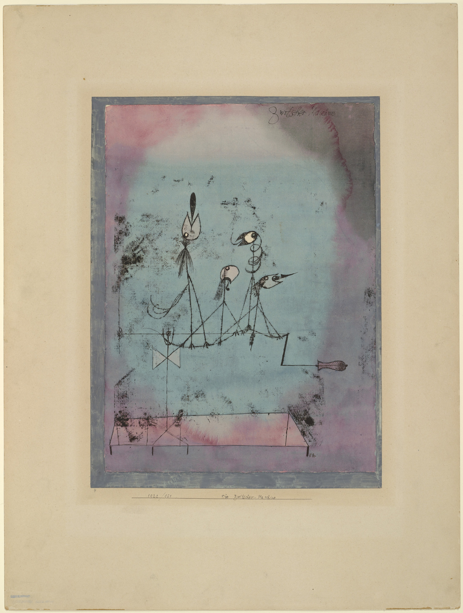 Paul Klee. Twittering Machine (Die Zwitscher-Maschine). 1922