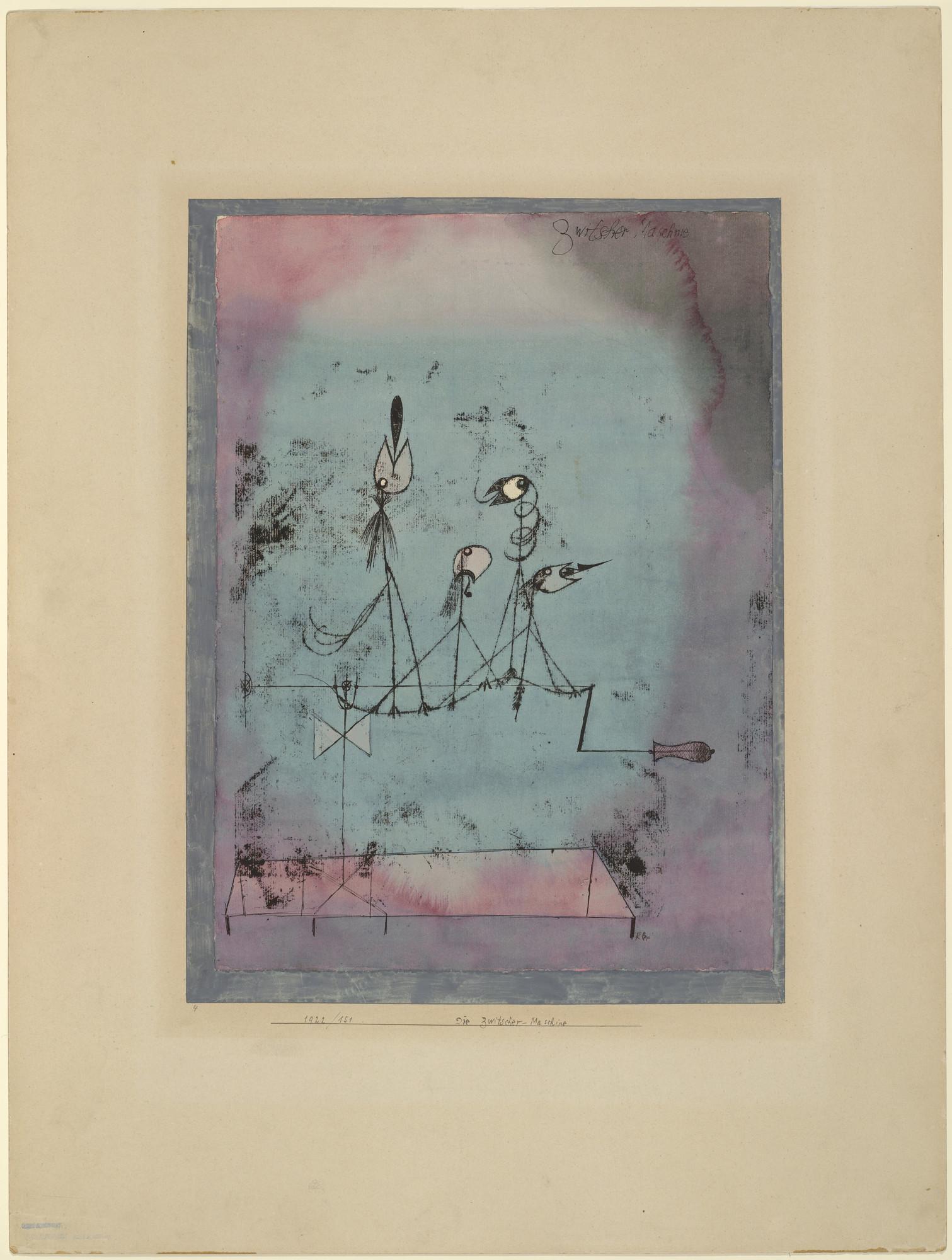 Twittering Machine >> Paul Klee Twittering Machine Die Zwitscher Maschine 1922 Moma