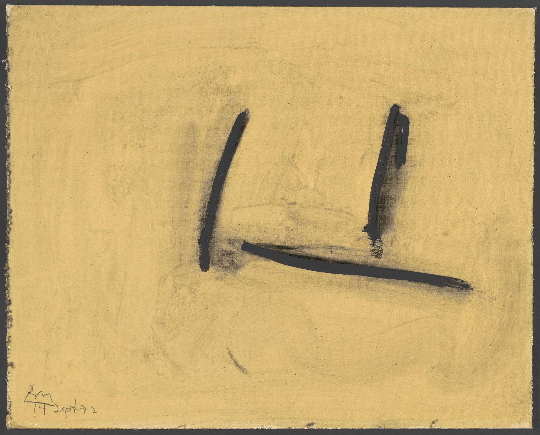 Robert Motherwell. Study for Shem the Penman #4. 1972