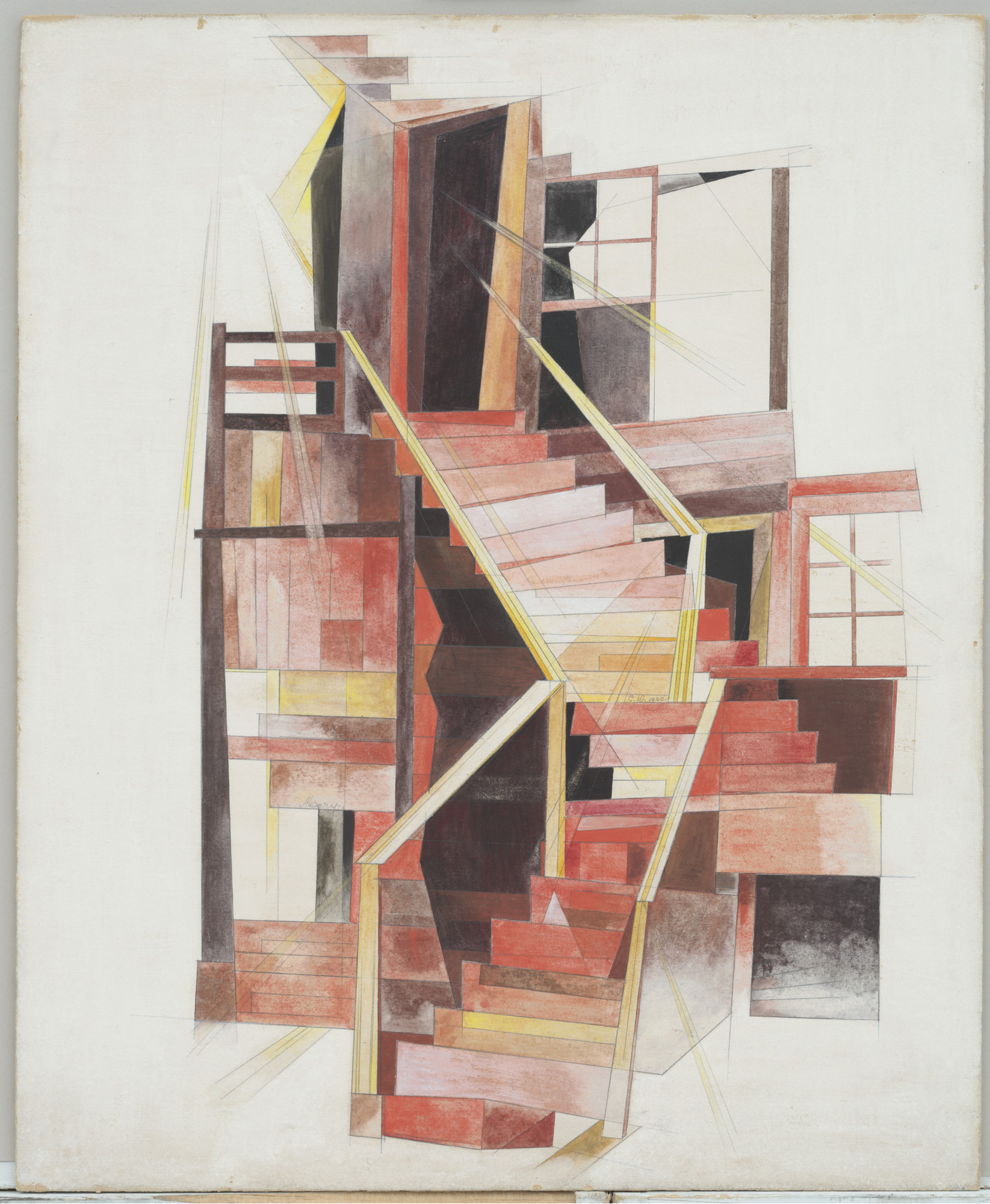 Charles Demuth. Stairs, Provincetown. 1920