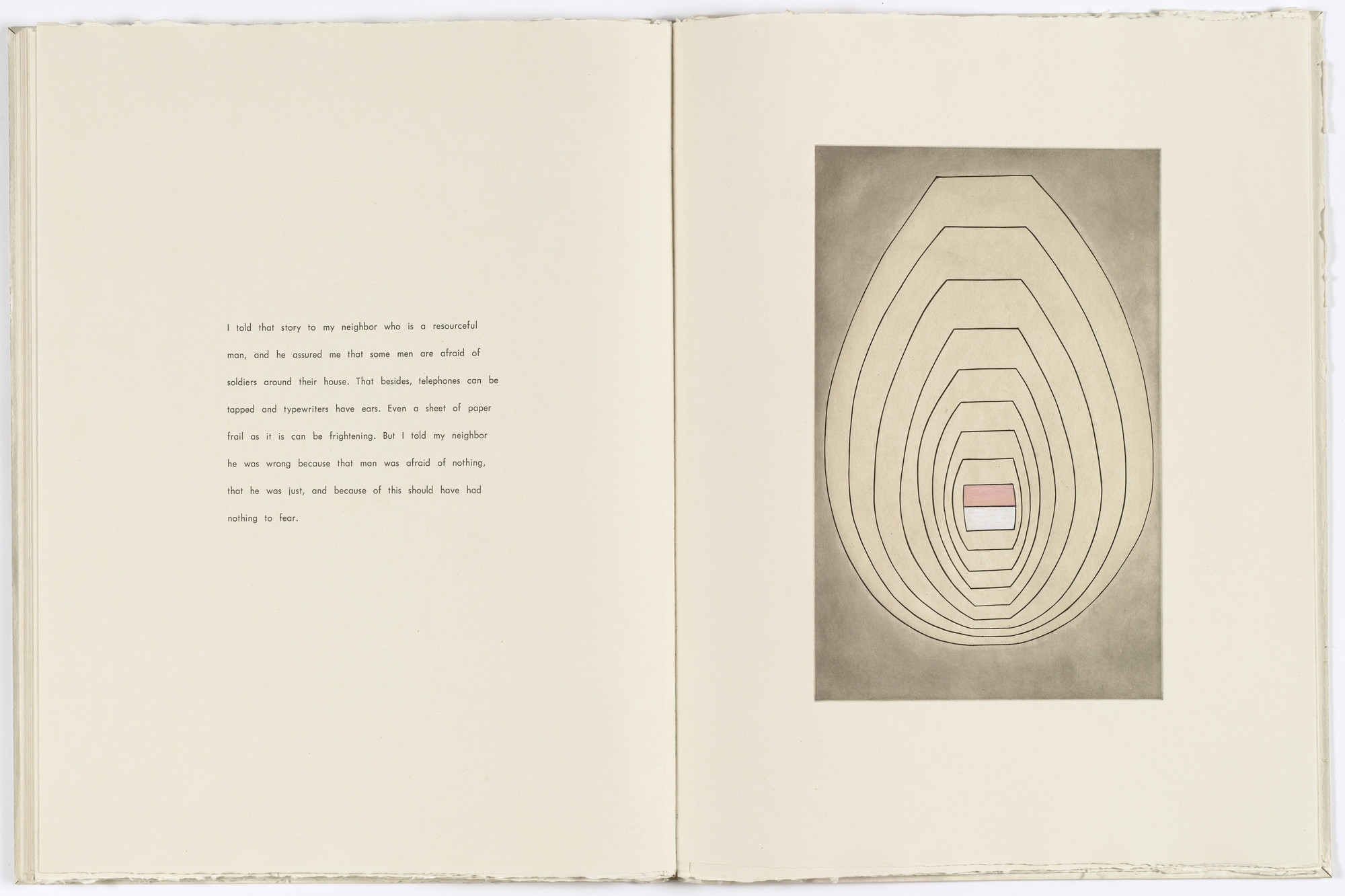 Louise Bourgeois. Untitled, plate 7 of 8, from the illustrated book, the puritan. 1990