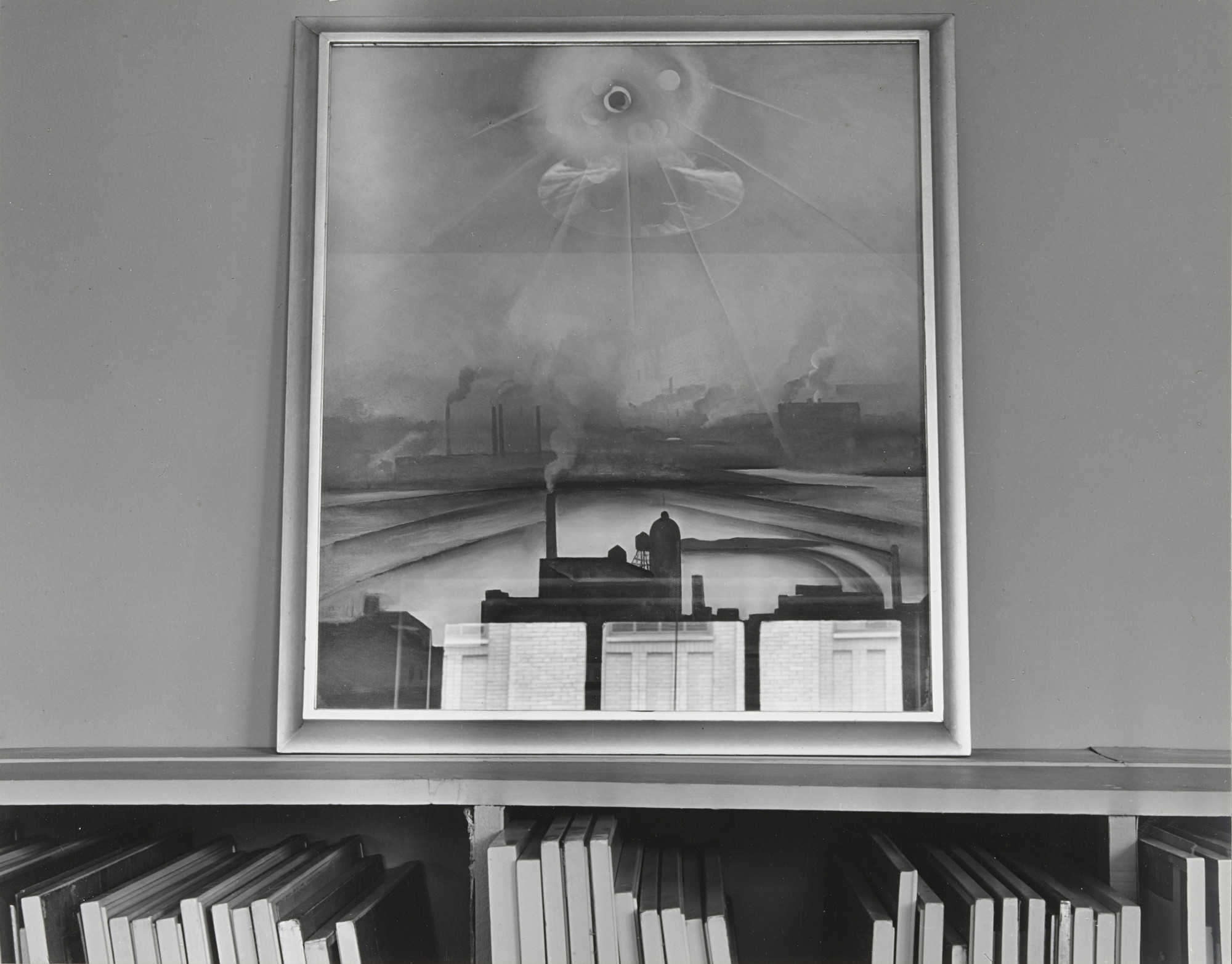Ansel Adams. An American Place, O'Keeffe Painting, Reflections. c. 1938