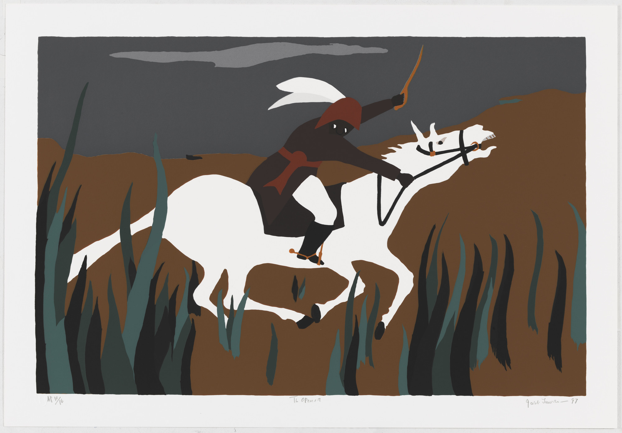 Jacob Lawrence. The Opener from the series The Life of Toussaint L'Ouverture. 1997