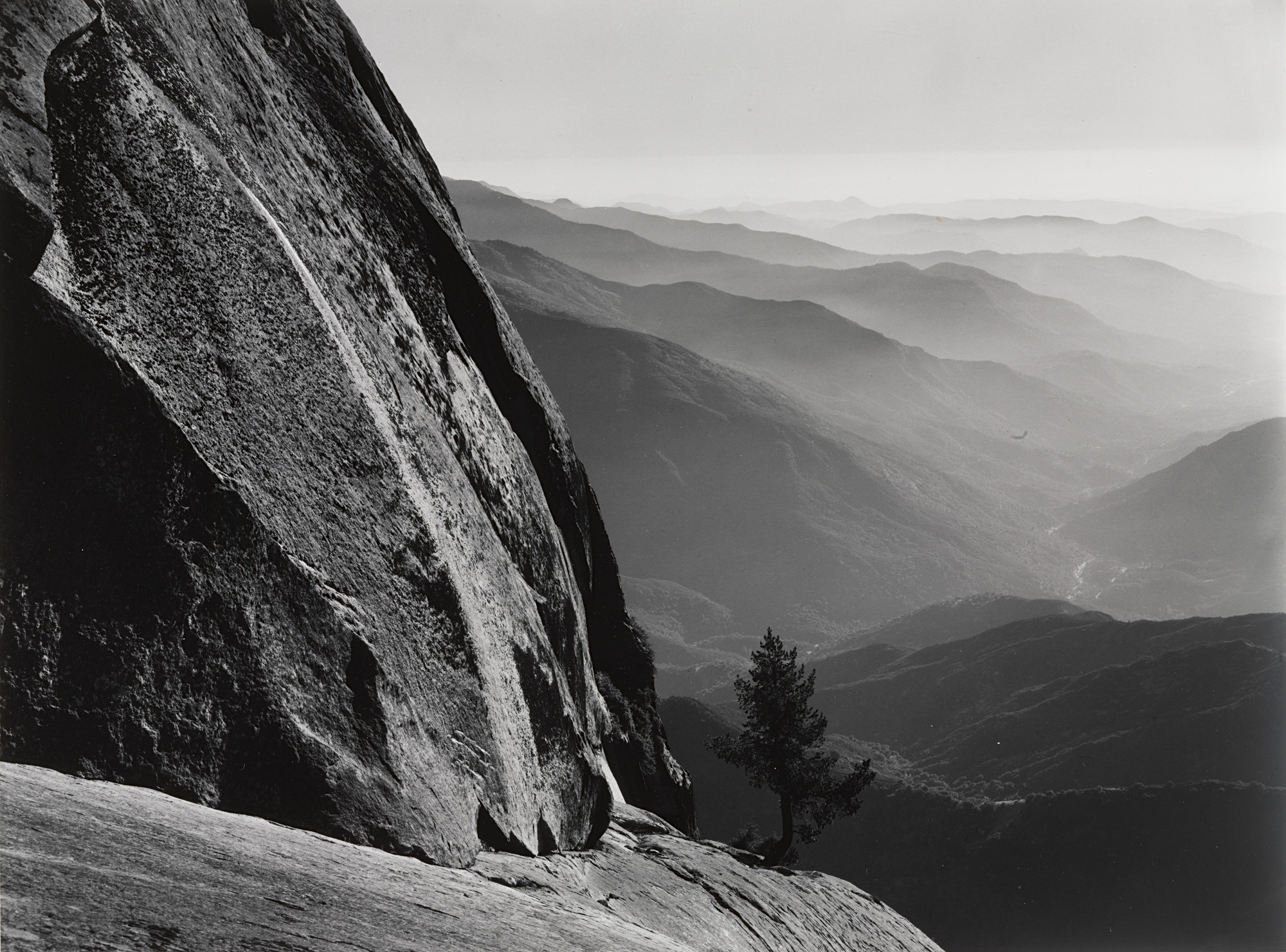 Ansel Adams. Moro Rock, Sequoia National Park and Sierra Foothills, California. c. 1945