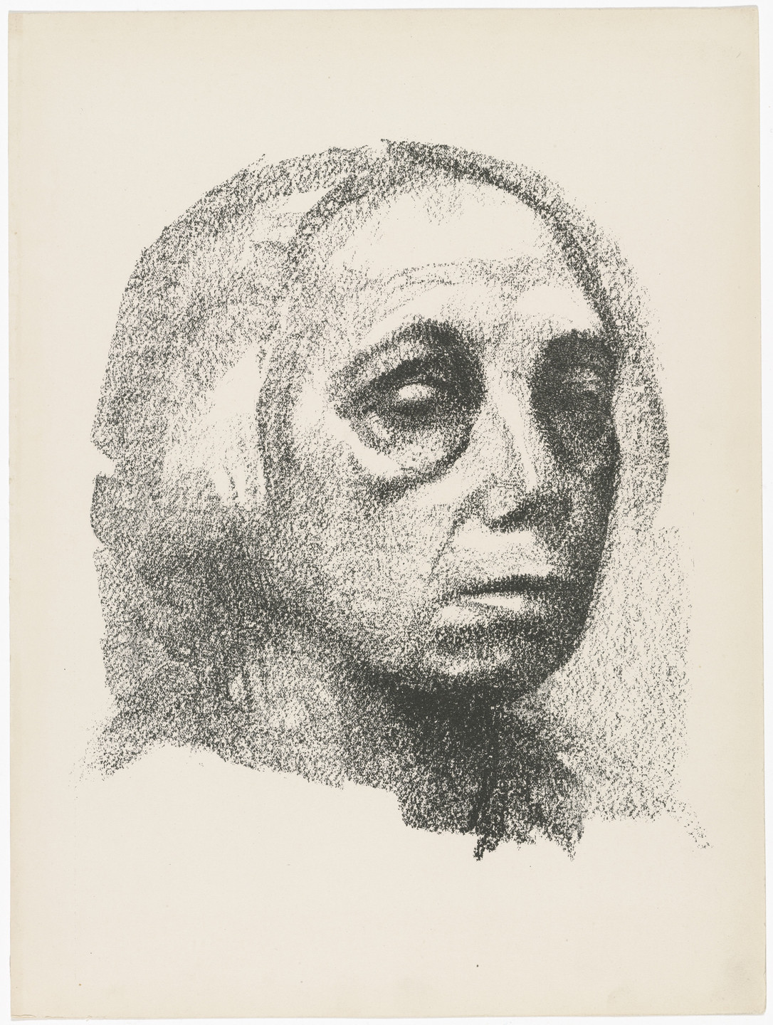 Käthe Kollwitz. Small Self-Portrait (Kleines Selbstbildnis) (plate 3) from Deutsche Graphiker der Gegenwart (German Printmakers of Our Time). 1920