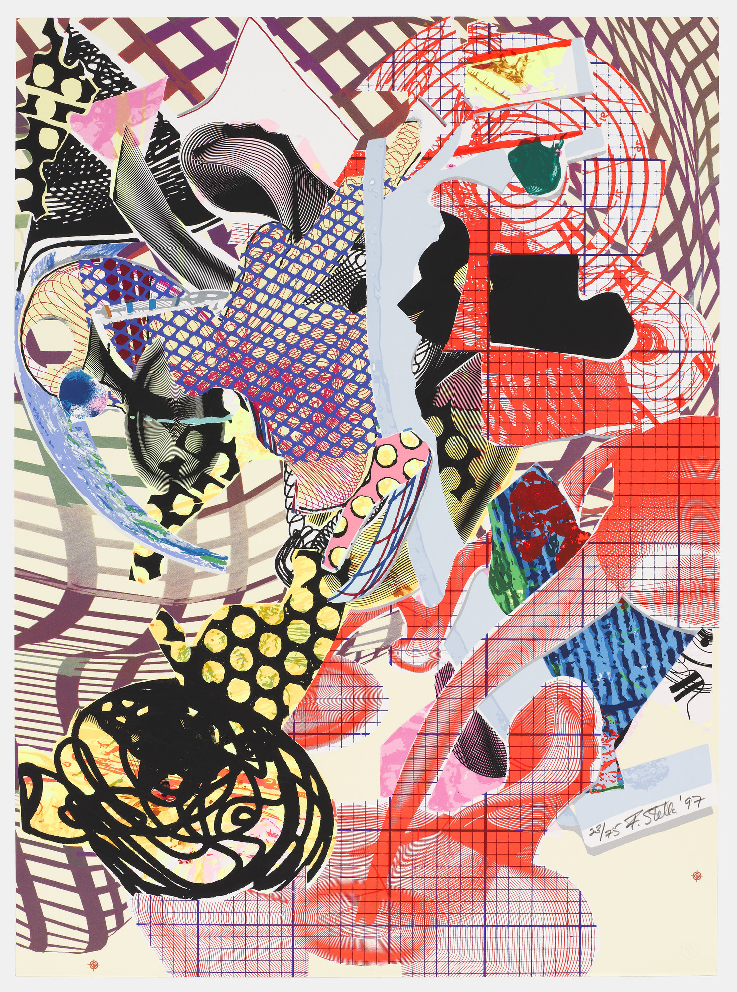 Frank Stella. Coxuria from The Geldzahler Portfolio. 1997, published 1998