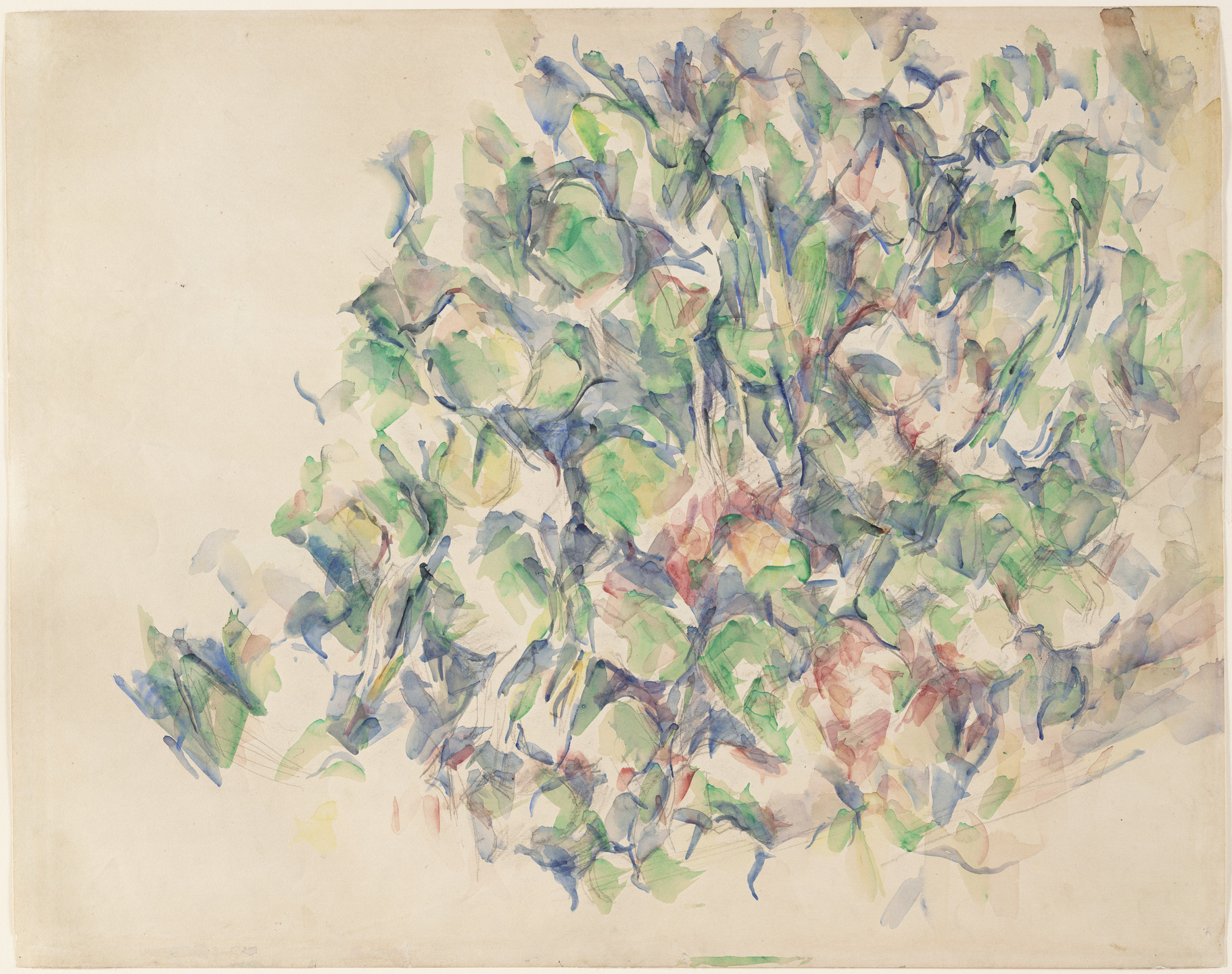 Paul Cézanne. Foliage (recto); Study of Trees (verso). 1895