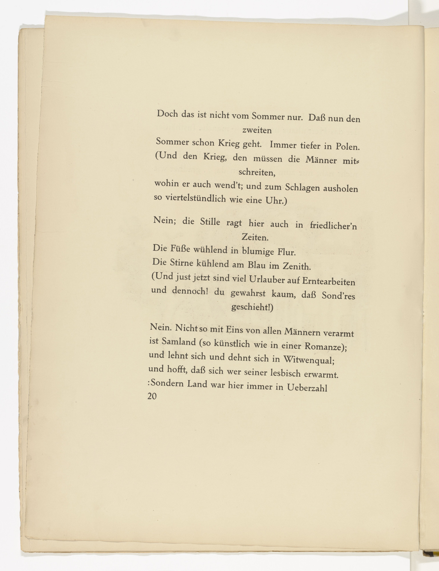 Max Pechstein. Untitled (plate, facing page 20) from Die Samländische Ode (The Samland Ode). 1918 (executed 1917)