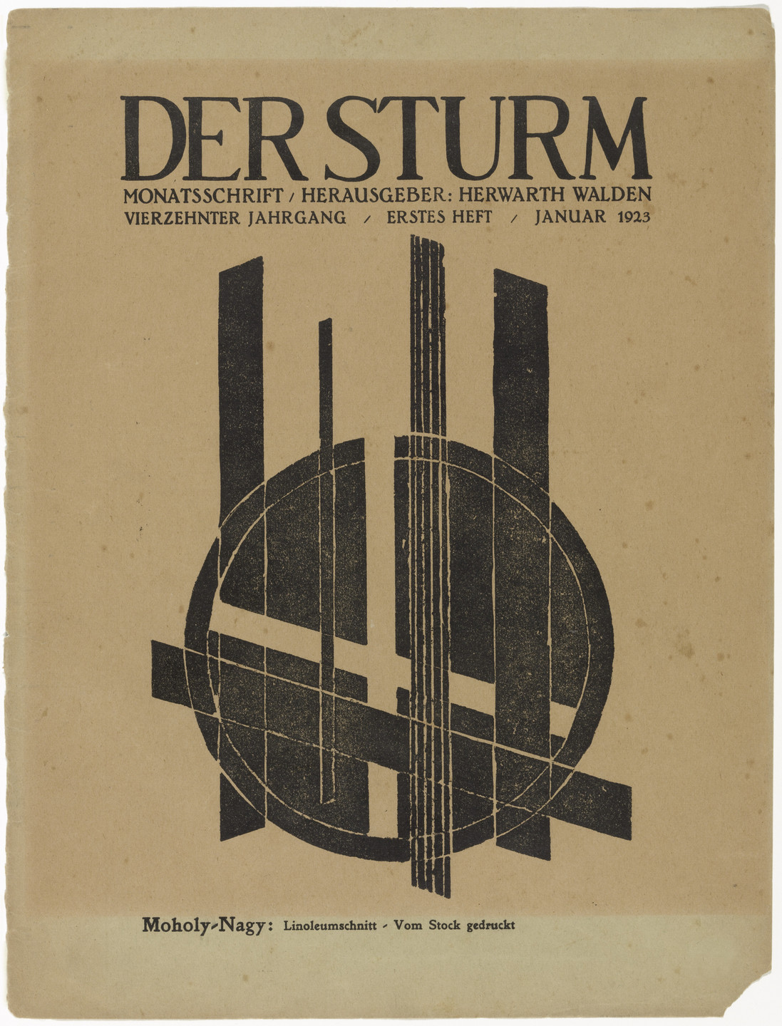 László Moholy-Nagy. Untitled (Composition) (ohne Titel (Komposition)) from the periodical Der Sturm, vol. 13, no. 1 (Jan 1923). 1923