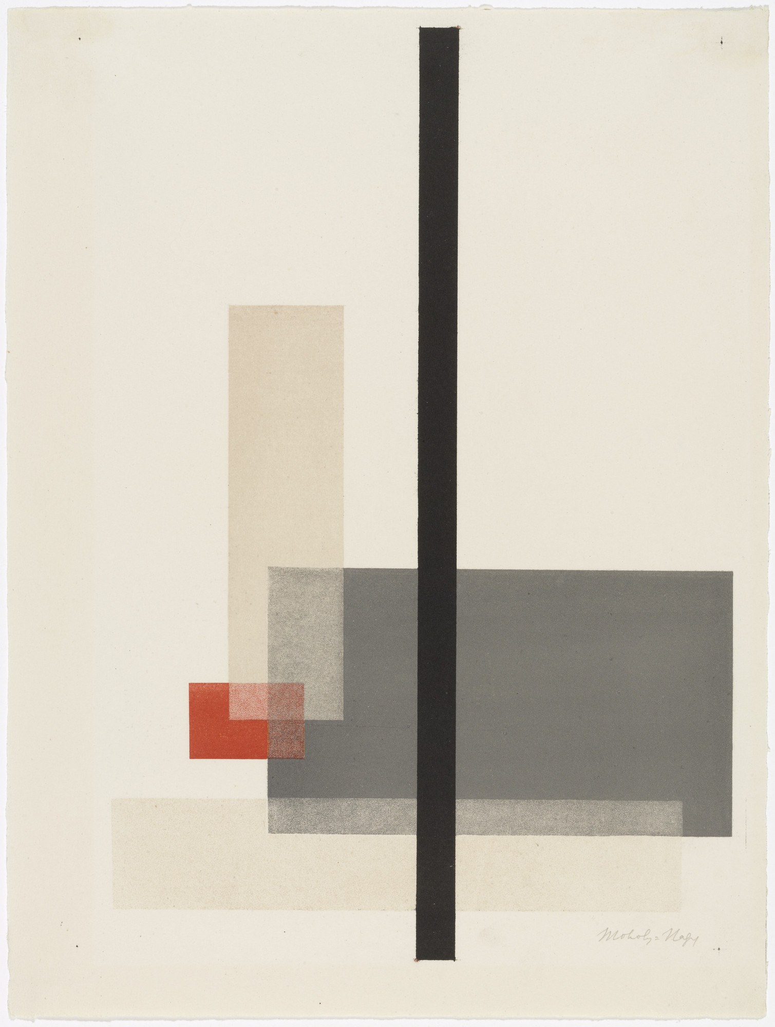 László Moholy-Nagy. Composition from Masters' Portfolio of the Staatliches Bauhaus (Meistermappe des Staatlichen Bauhauses). (1923)