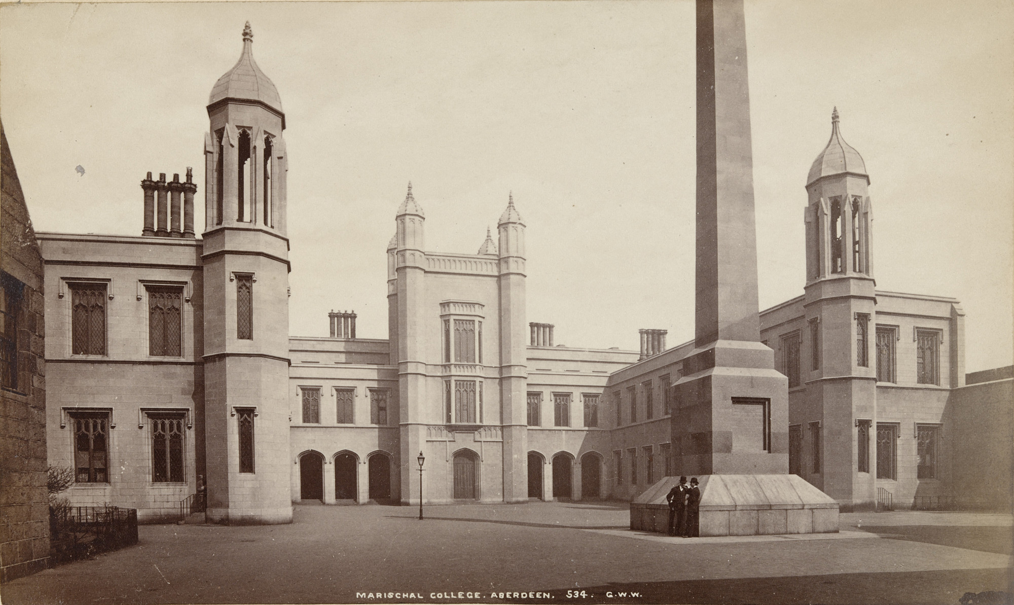 George Washington Wilson. Marischal College, Aberdeen. c. 1875