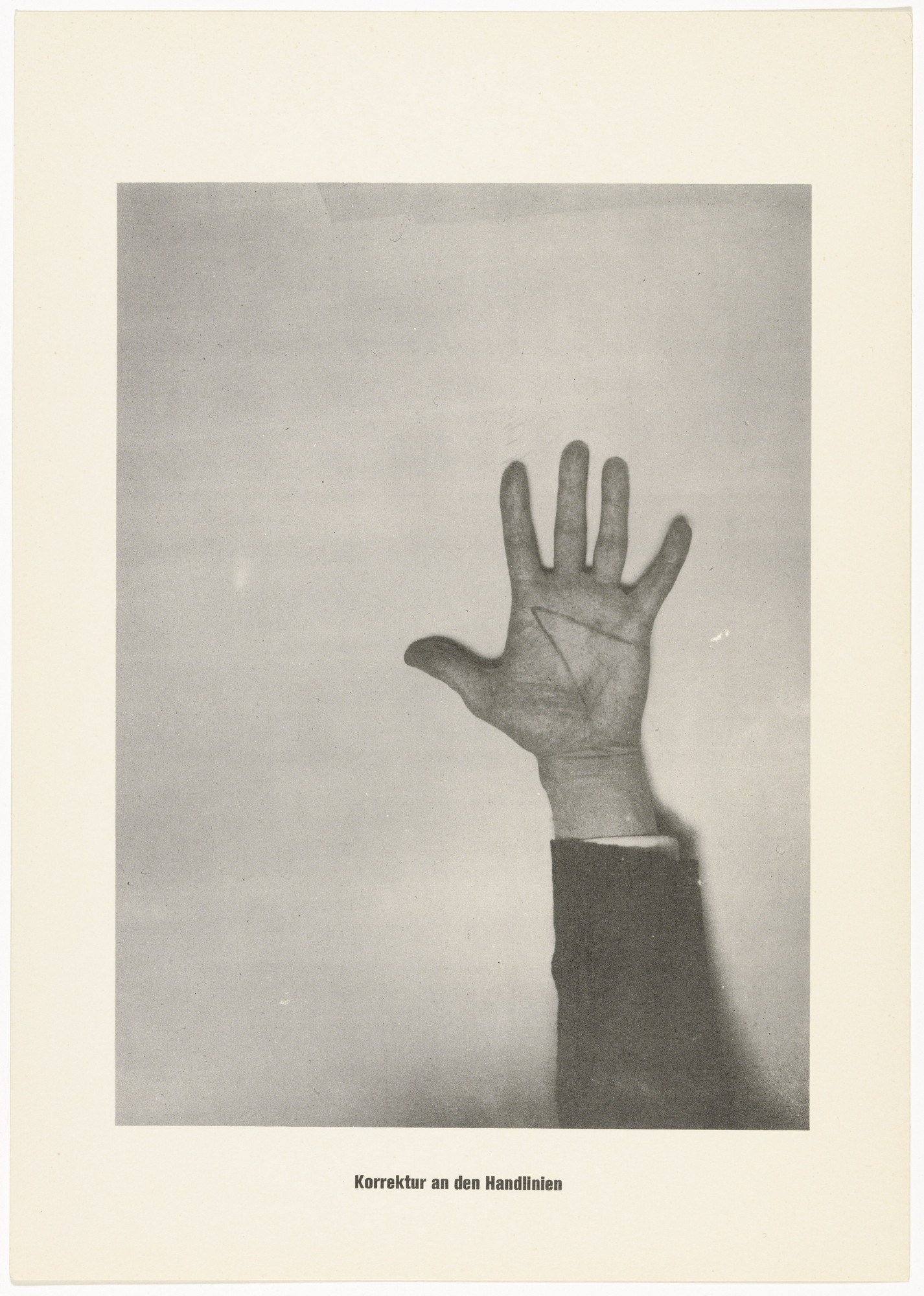 Sigmar Polke, Christof  Kohlhöfer. The Correction of the Lines of the Hand (Die Korrektur an den Handlinien) from .....Higher Beings Ordain (.....Höhere Wesen befehlen). 1968