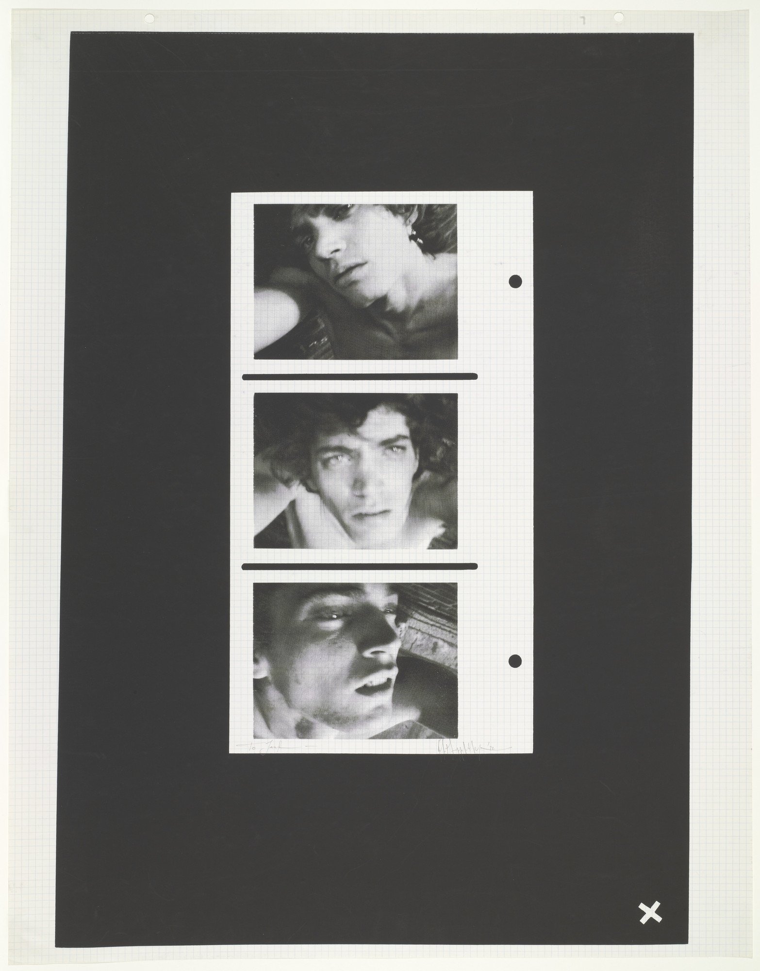 Robert Mapplethorpe. Triptych: Self-Portrait. 1972
