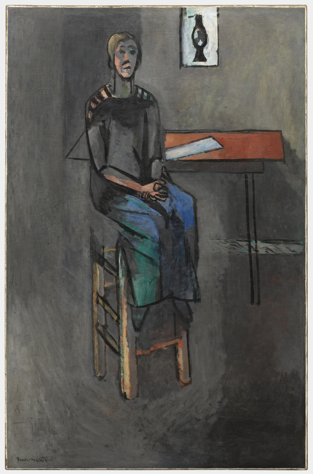 Henri Matisse. Woman on a High Stool (Germaine Raynal). Paris, quai Saint-Michel, early 1914