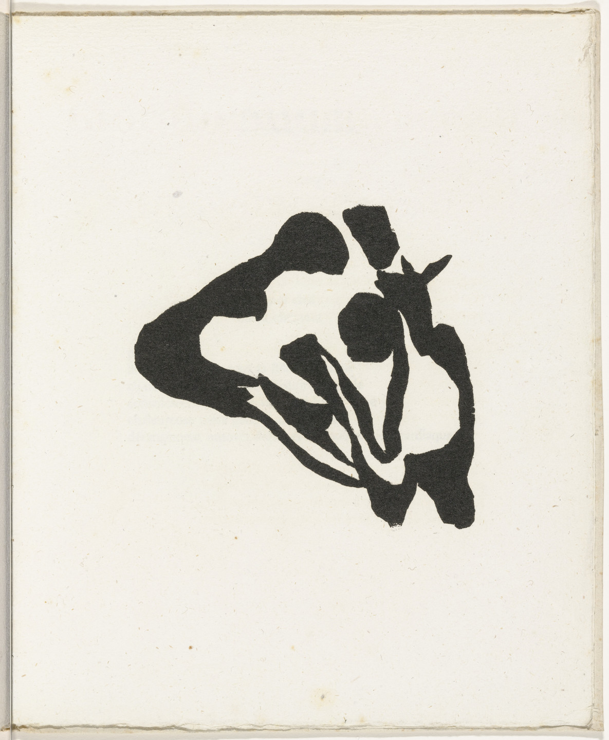 Jean (Hans) Arp. Plate (folio 30) from Cinéma calendrier du coeur abstrait, maisons (Cinema Calendar of the Abstract Heart, Houses). 1920