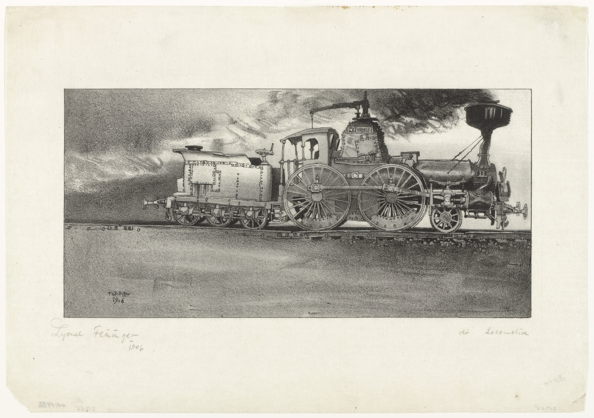 Lyonel Feininger. The Old Locomotive. 1906