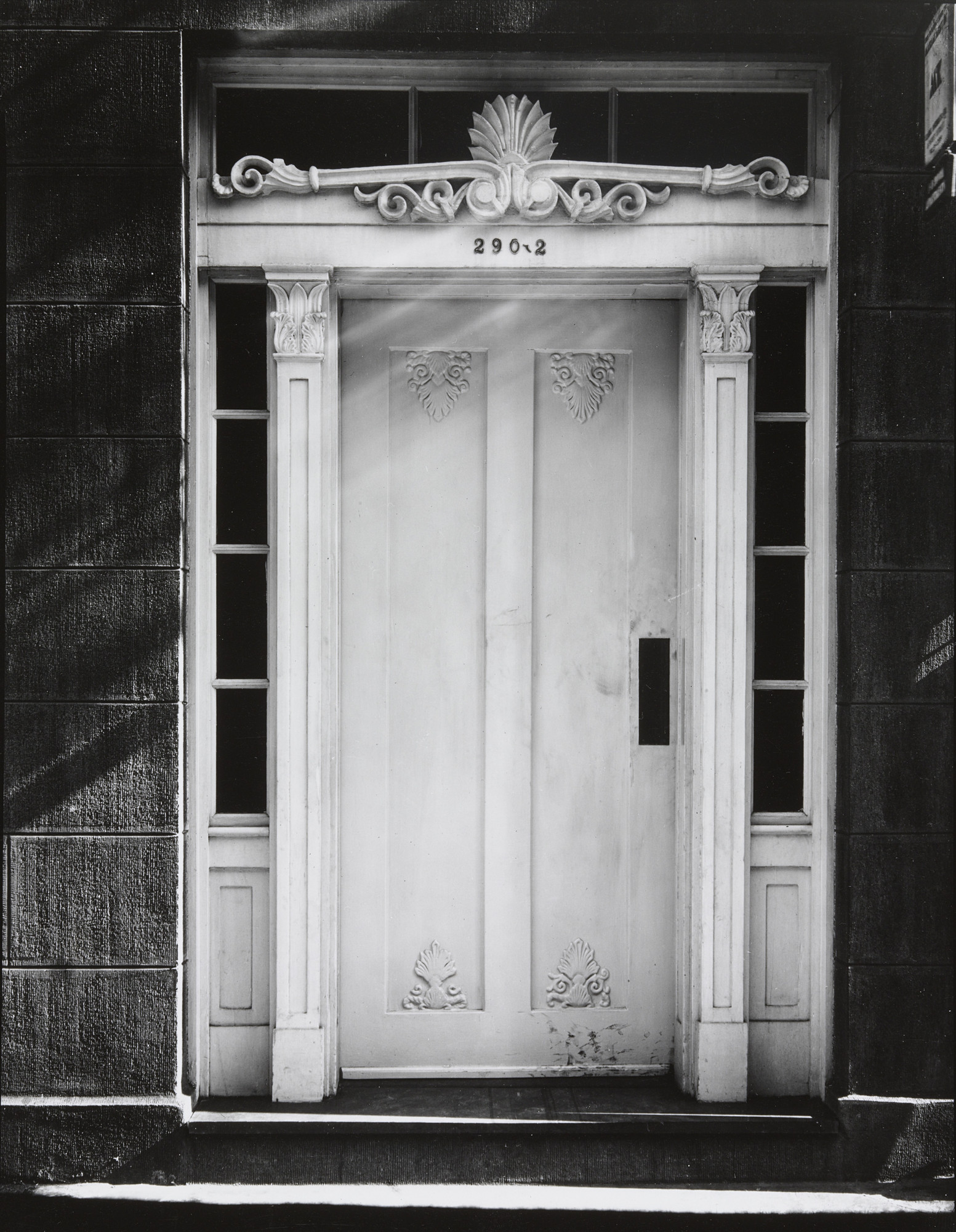 Walker Evans. Greek Revival Doorway, New York City. 1934