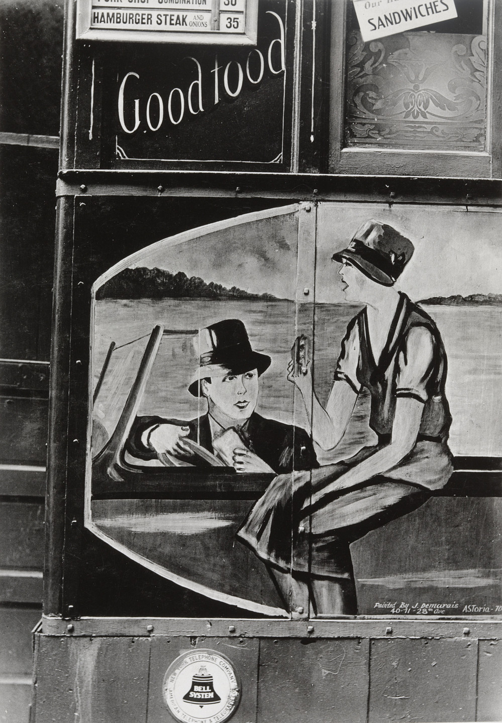Walker Evans. Lunch Wagon Detail, New York. 1931