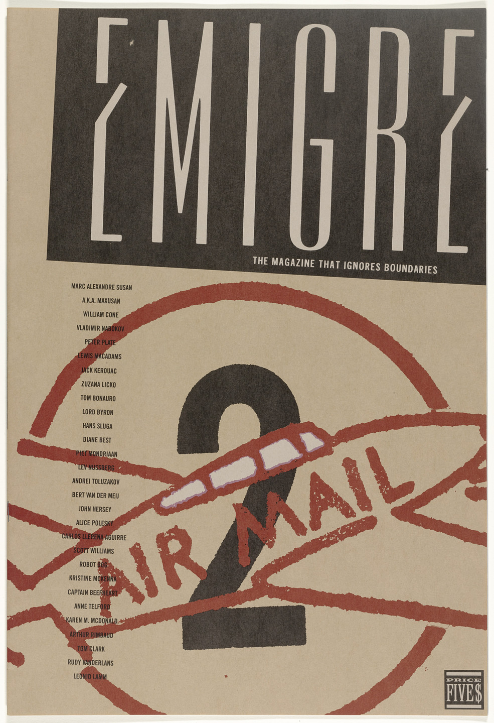 Emigre Inc., Rudy VanderLans, Zuzana Licko. Emigre 2,The Magazine That Ignores Boundaries. 1985