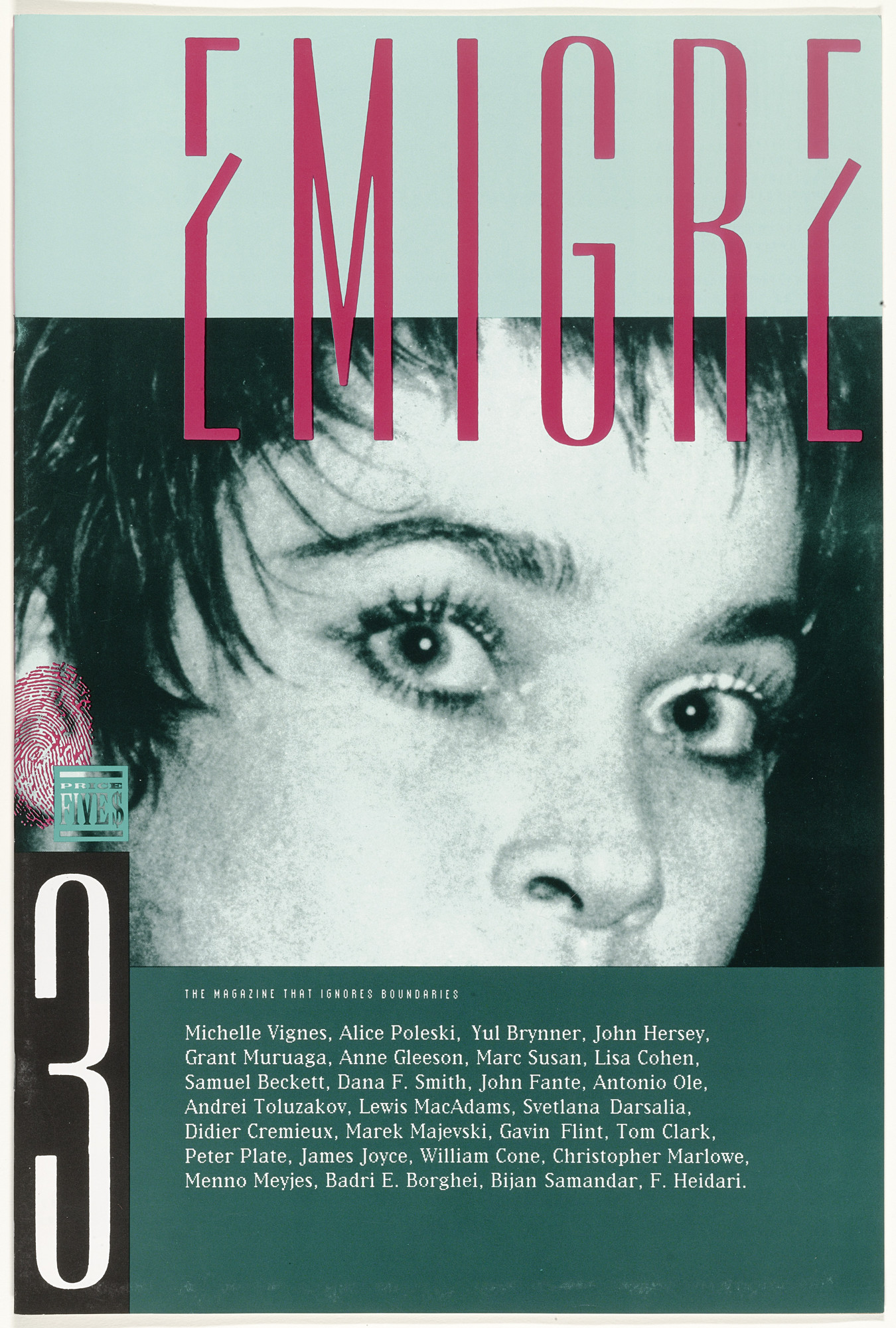 Emigre Inc., Rudy VanderLans, Zuzana Licko. Emigre 3, The Magazine That Ignores Boundaries. 1985