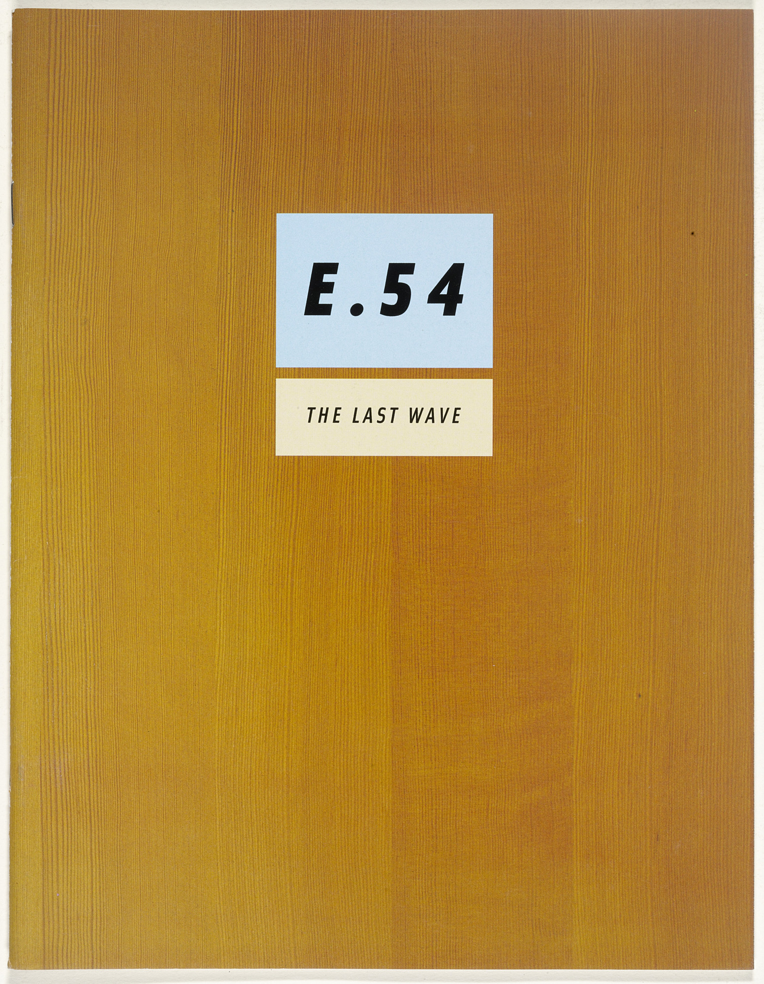Emigre Inc., Rudy VanderLans, Zuzana Licko. Emigre 54, The Last Wave. 2000