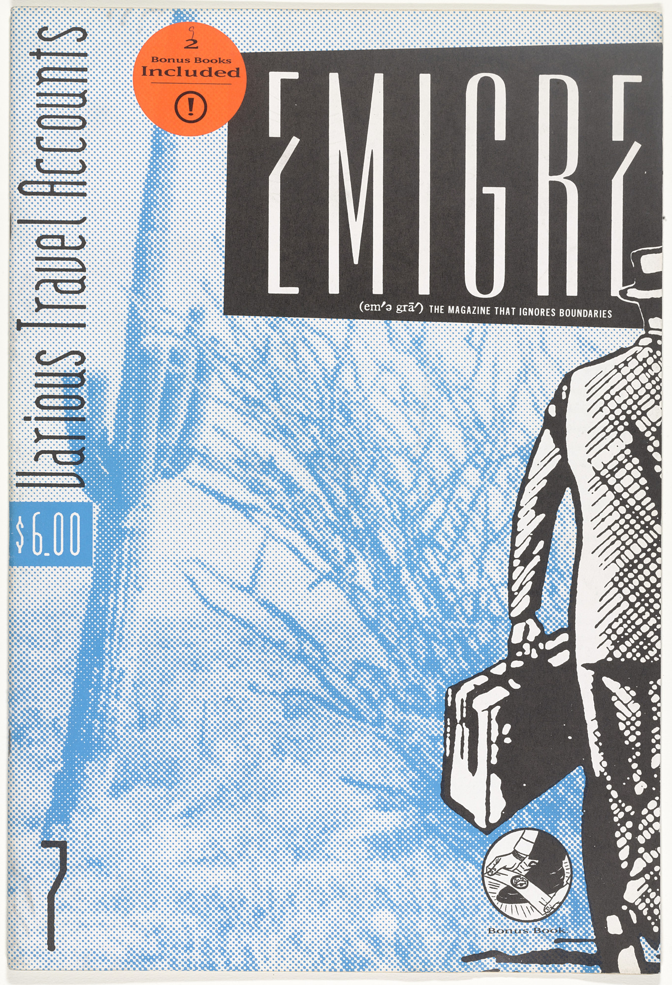 Emigre Inc., Rudy VanderLans, Zuzana Licko. Emigre 7, Various Travel Accounts. 1987