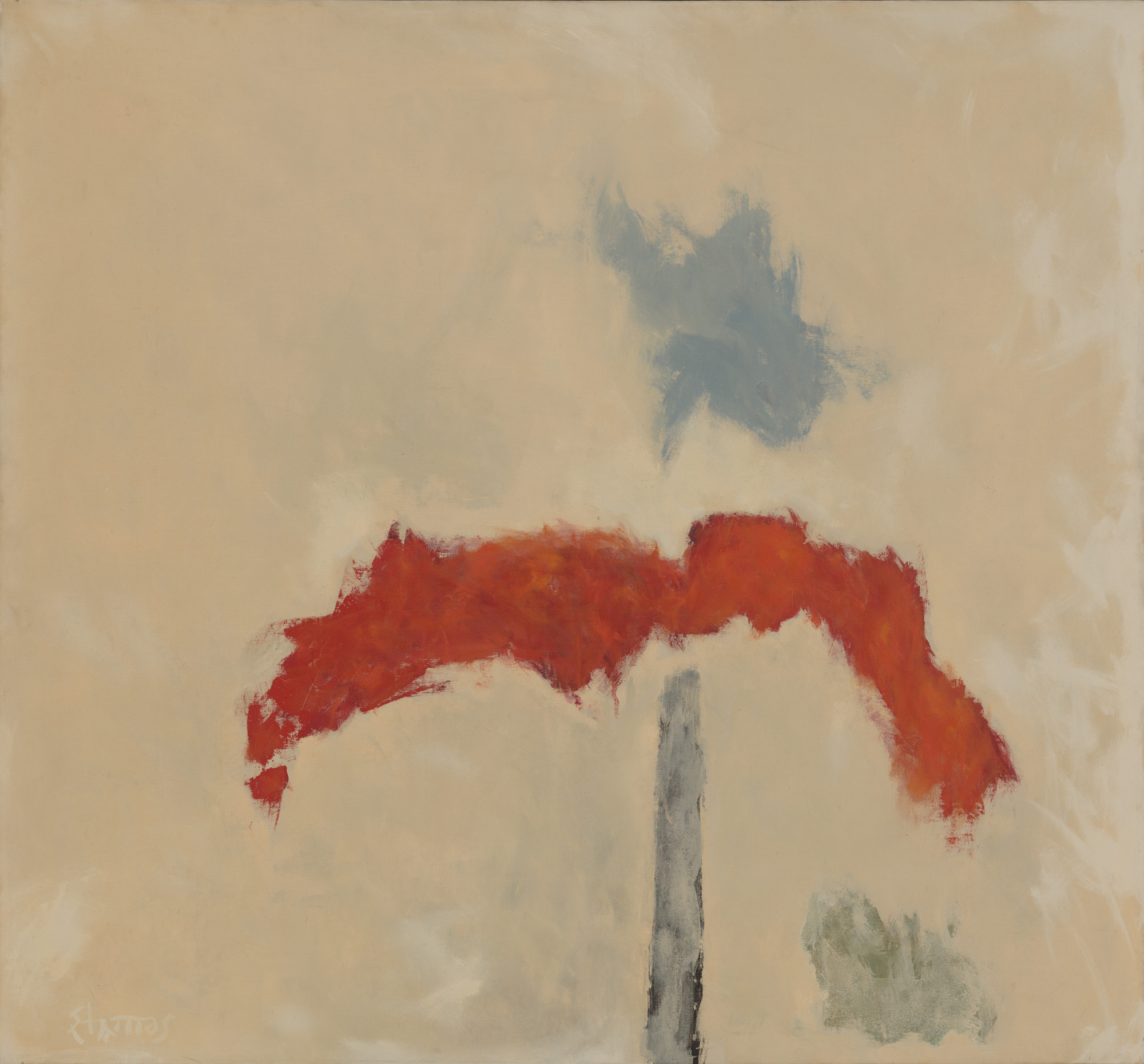 Theodoros Stamos. Red Mound Number 1. 1963-64