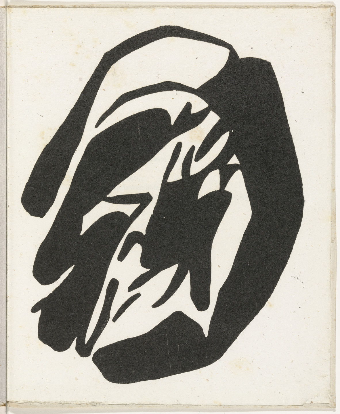 Jean (Hans) Arp. Plate (folio 36) from Cinéma calendrier du coeur abstrait, maisons (Cinema Calendar of the Abstract Heart, Houses). 1920