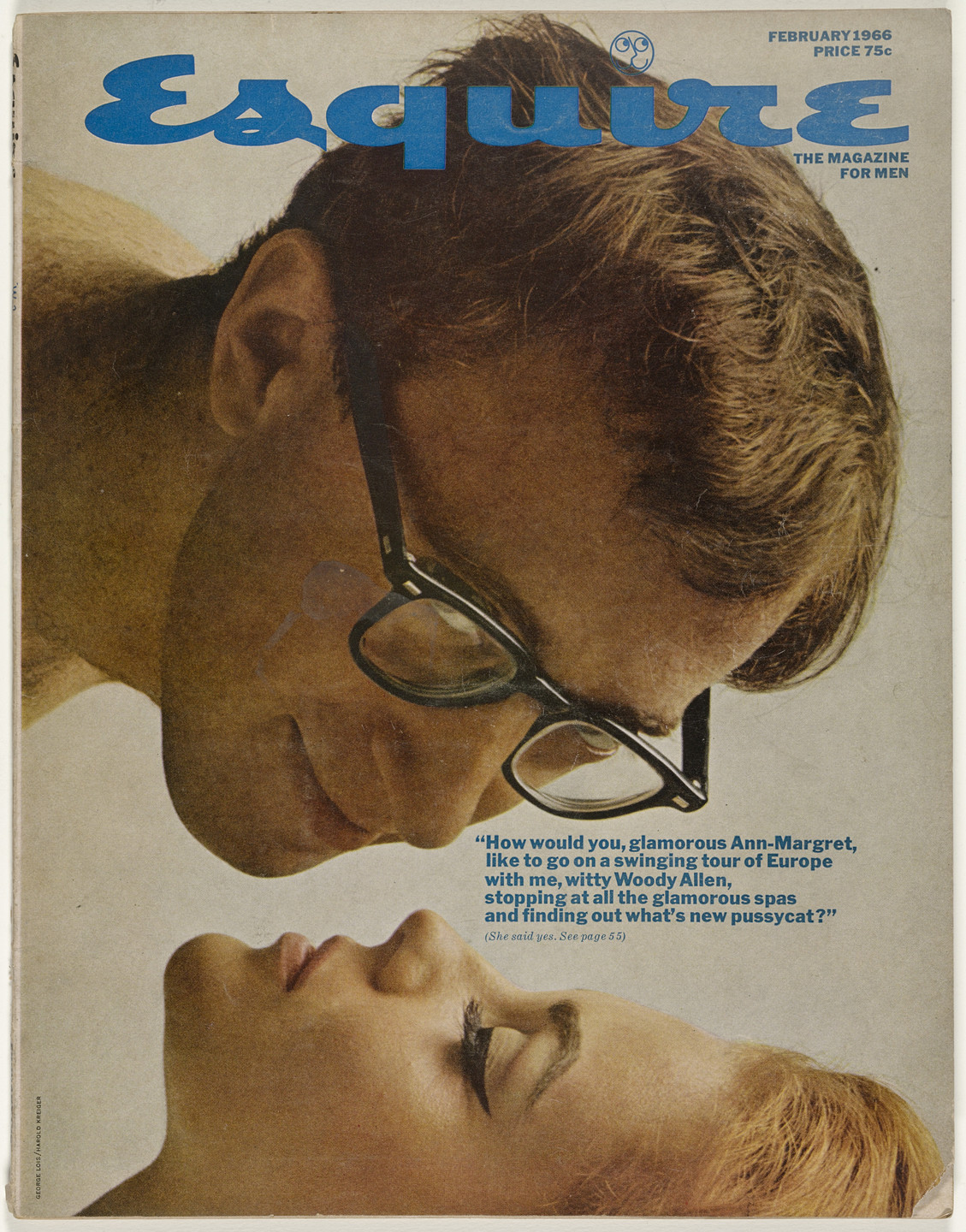George Lois, Harold Krieger. Esquire Magazine, Issue no. 387, February 1966. 1966