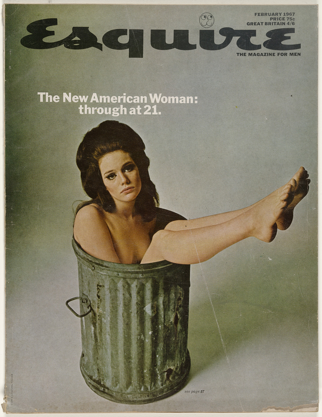 George Lois. Esquire Magazine, Issue no. 399, February 1967. 1967