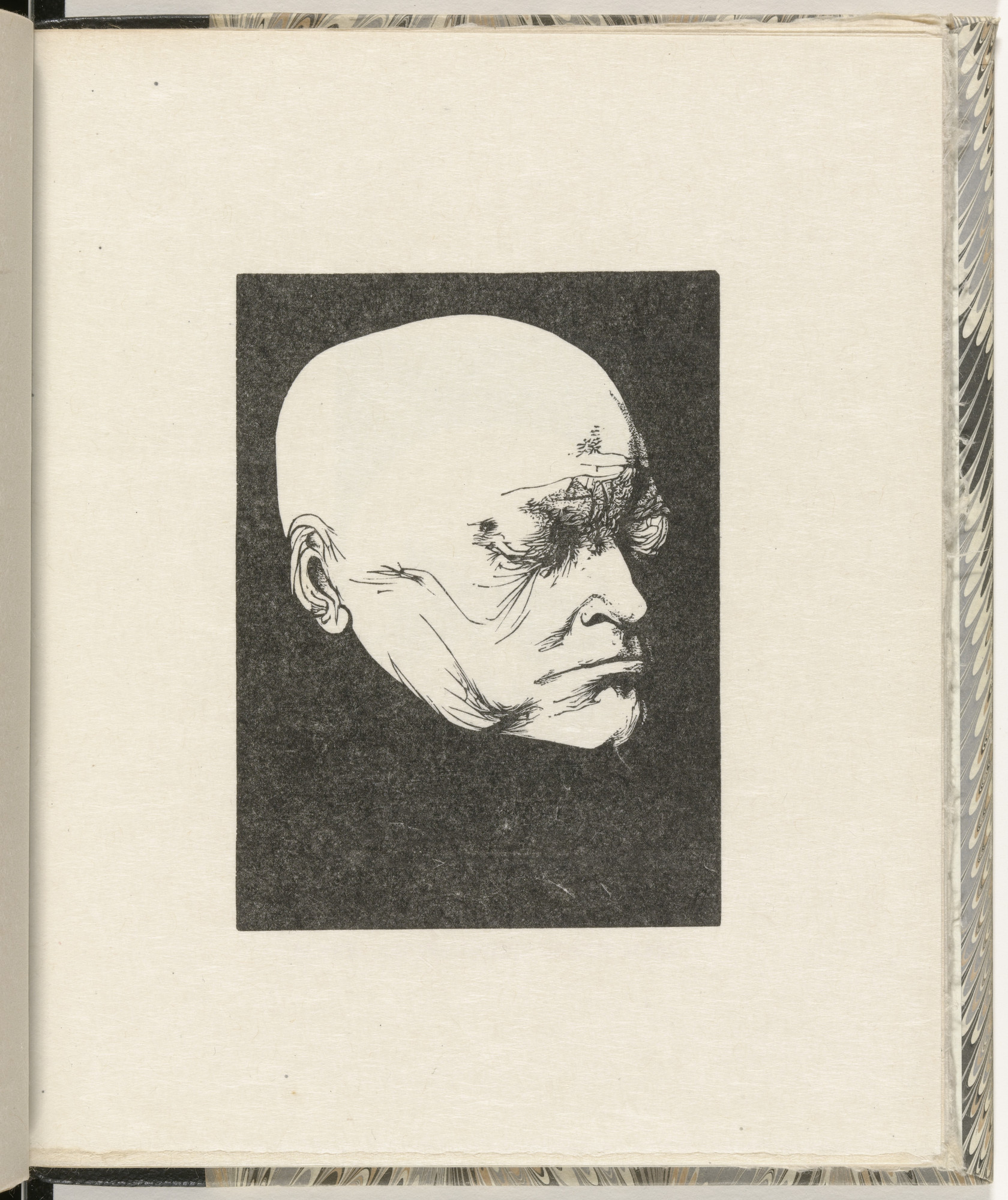Leonard Baskin. Blake, from Life Mask by Deville (plate, folio 17) from Blake and the Youthful Ancients. 1956