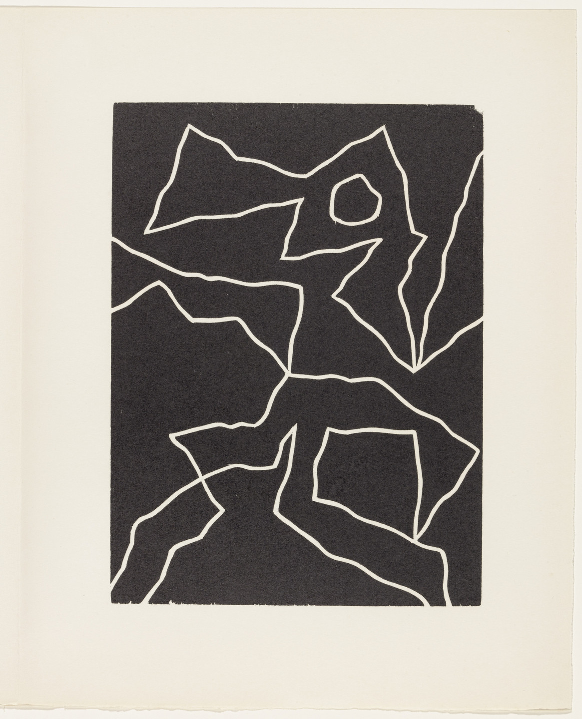 Jean (Hans) Arp. Mirage of a Voice (plate, page 123) from Dreams and Projects. 1951–52, published 1952