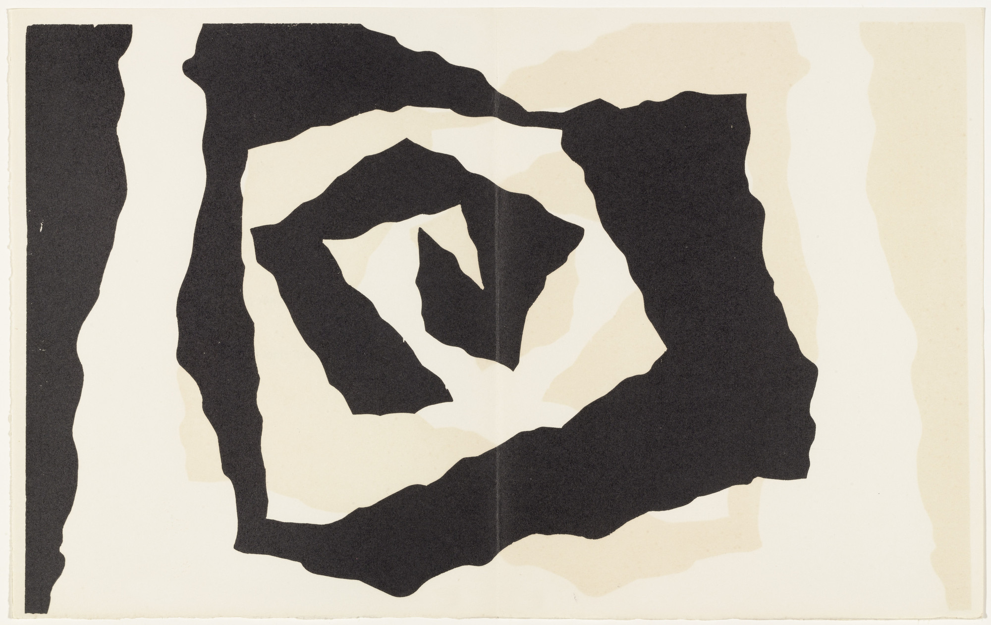 Jean (Hans) Arp. Fragment of a Flower-Bed (plate, pages 126–127) from Dreams and Projects. 1951–52, published 1952