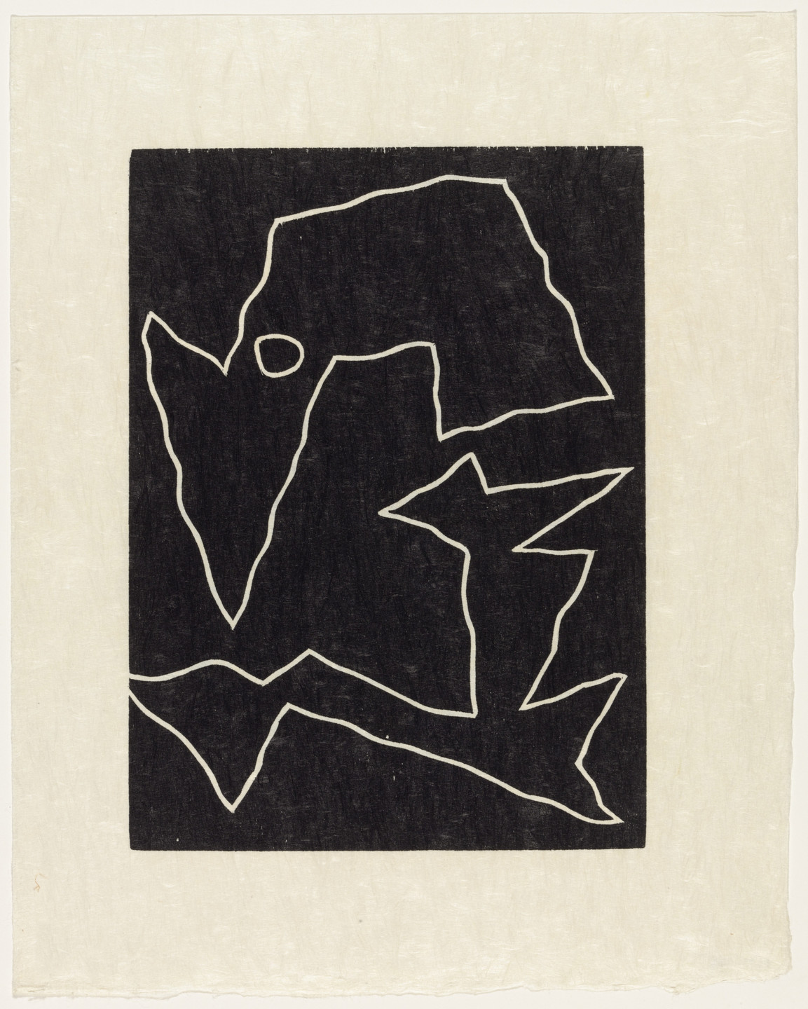Jean (Hans) Arp. Mirage of a Voice (plate, supplementary suite) from Dreams and Projects. 1951–52, published 1952