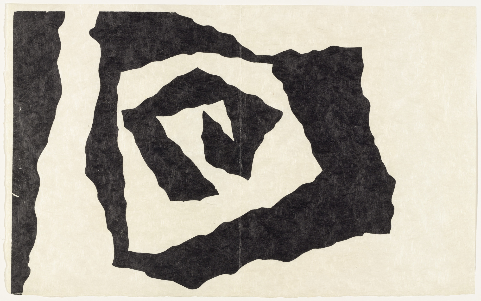 Jean (Hans) Arp. Fragment of a Flower-Bed (plate, supplementary suite) from Dream and Projects. 1951–52, published 1952