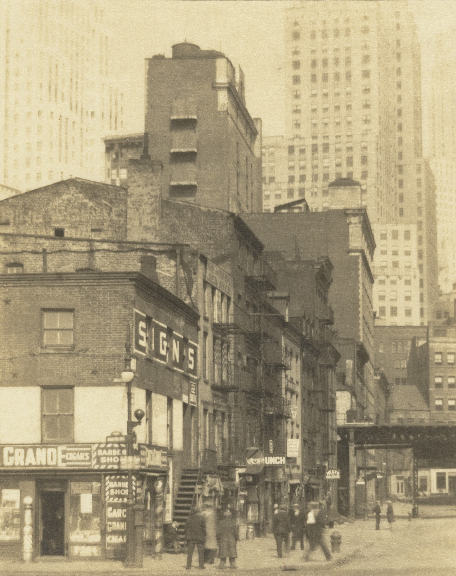 Clara E. Sipprell. New York City, Old and New. c. 1920