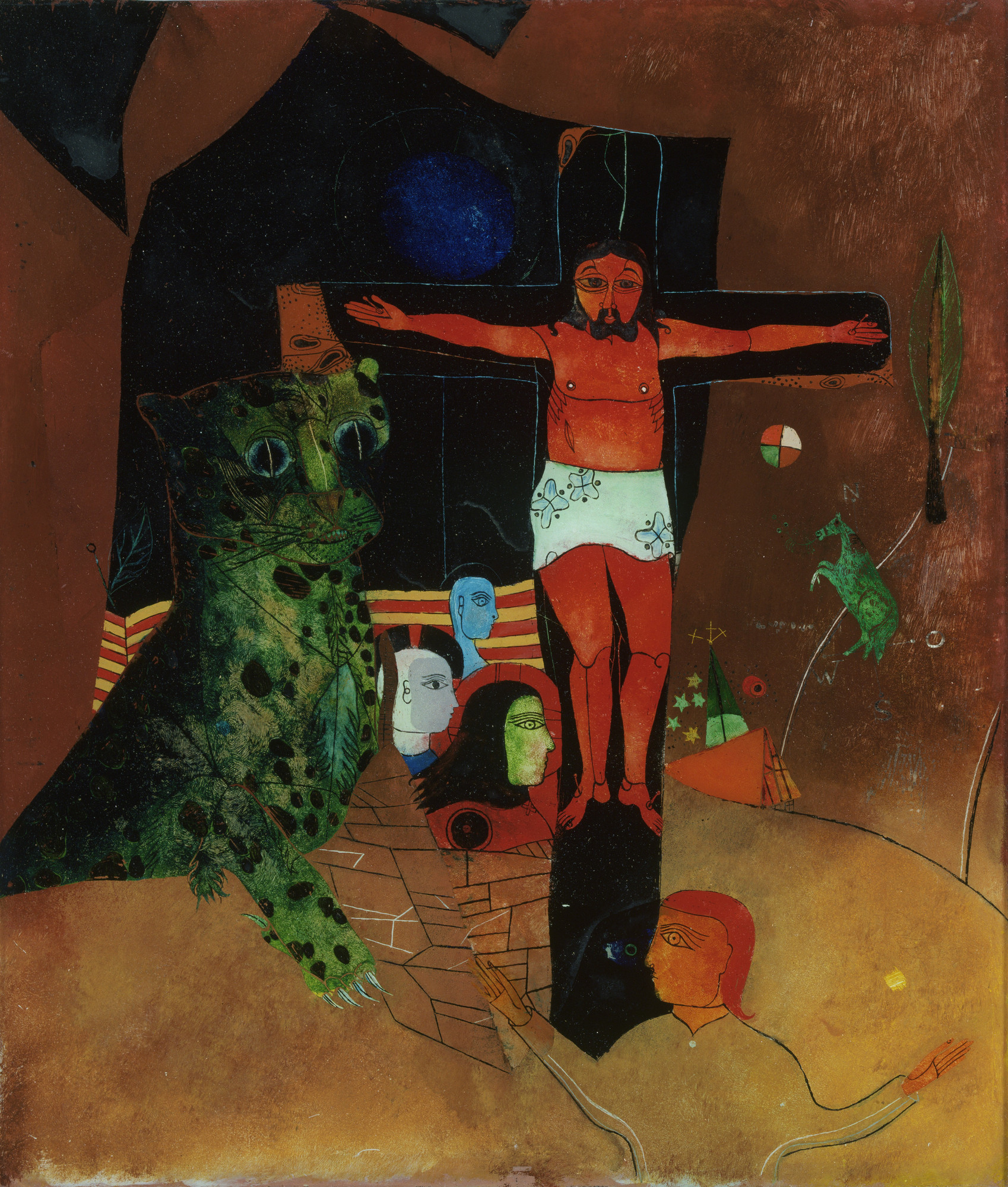Heinrich Campendonk  Mystical Crucifixion  1926-28? | MoMA