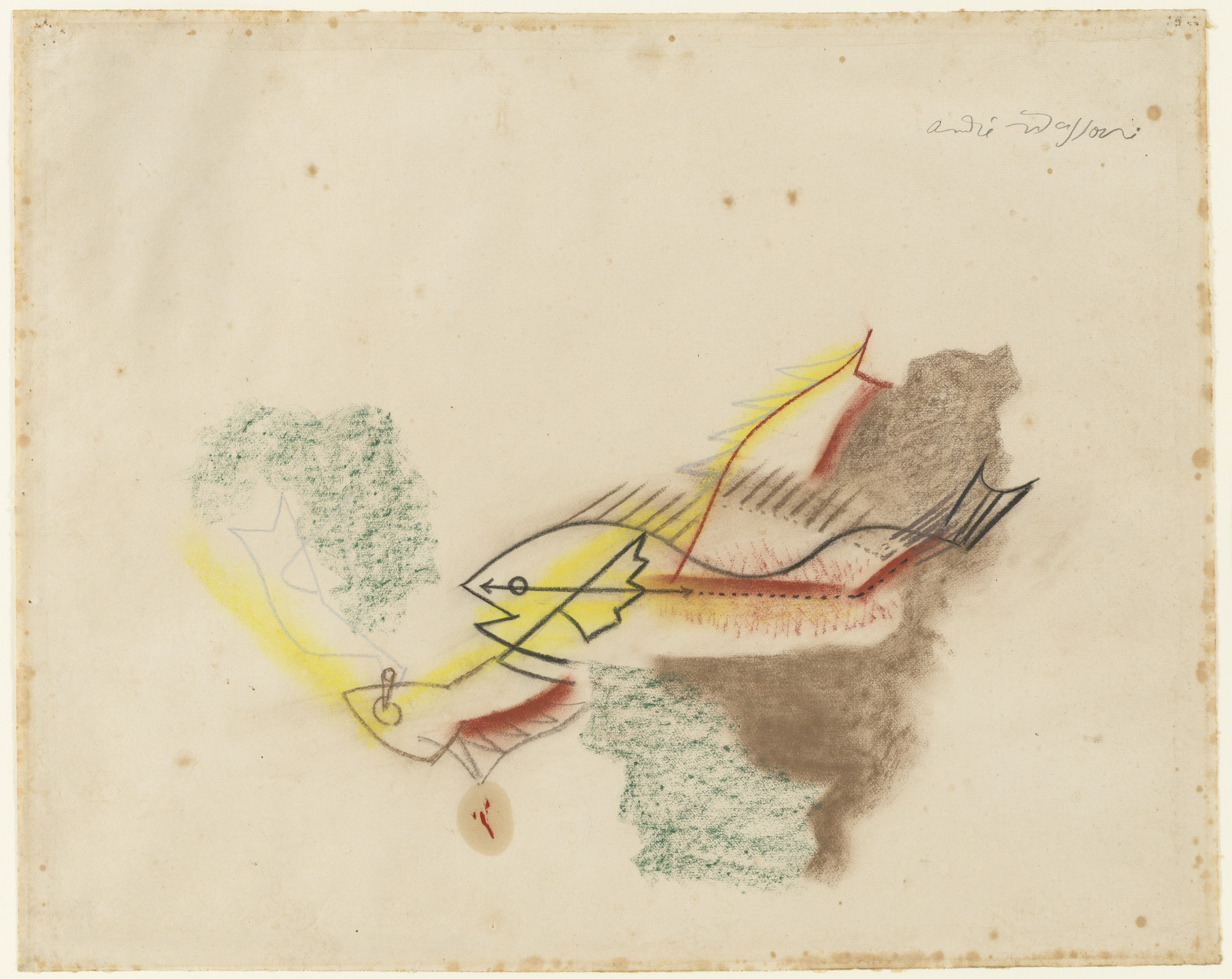 André Masson. Battle of the Fishes. (1927)