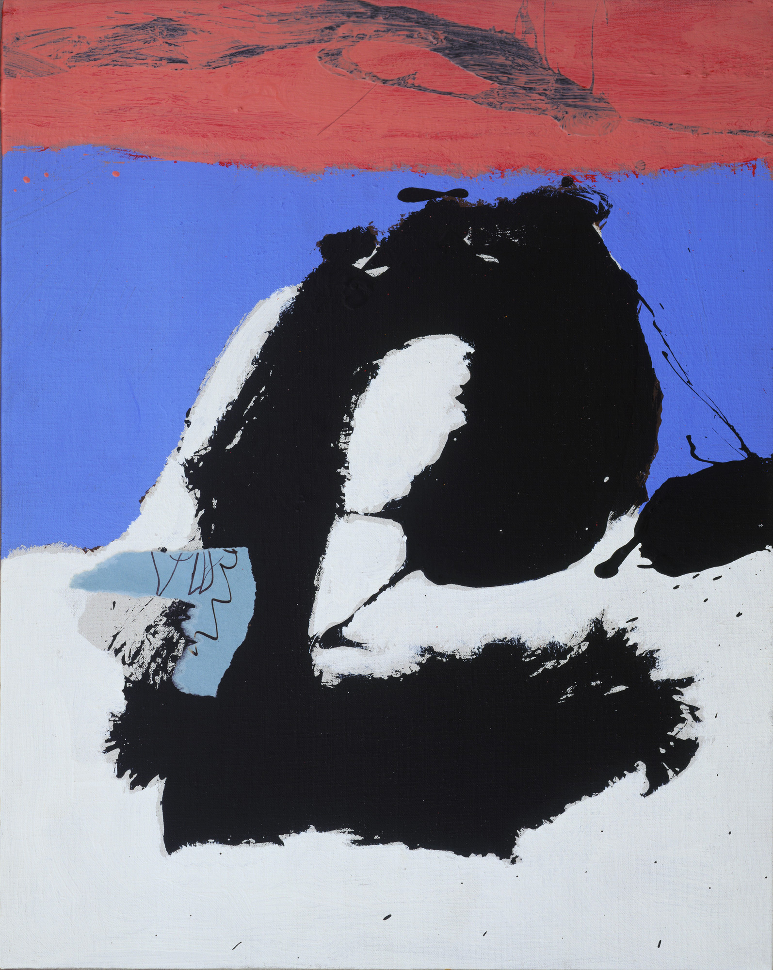 Robert Motherwell. In Black with Pink. 1966