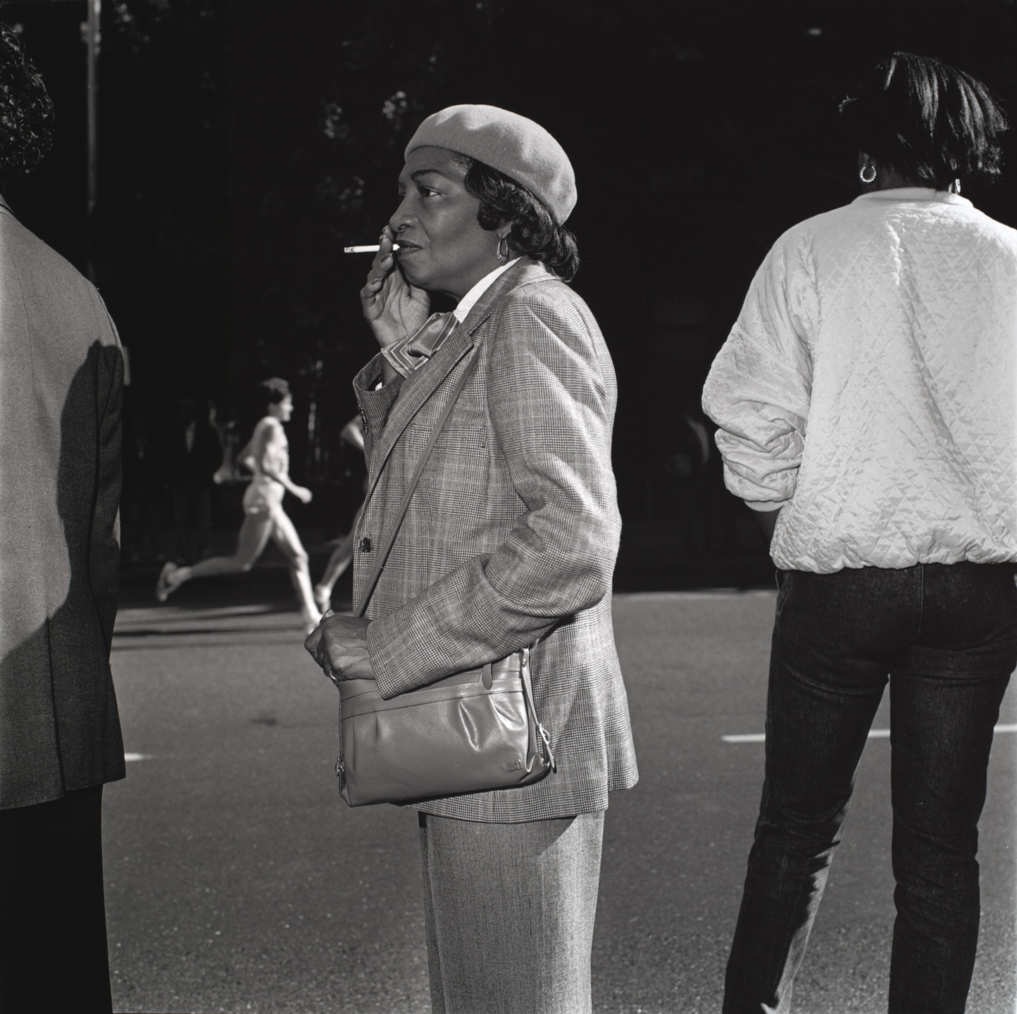 Jeffrey Scales. Woman Smoking, Fifth Avenue. 1985