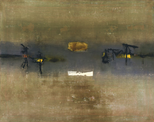 Vasudeo S. Gaitonde. Painting, 4. 1962